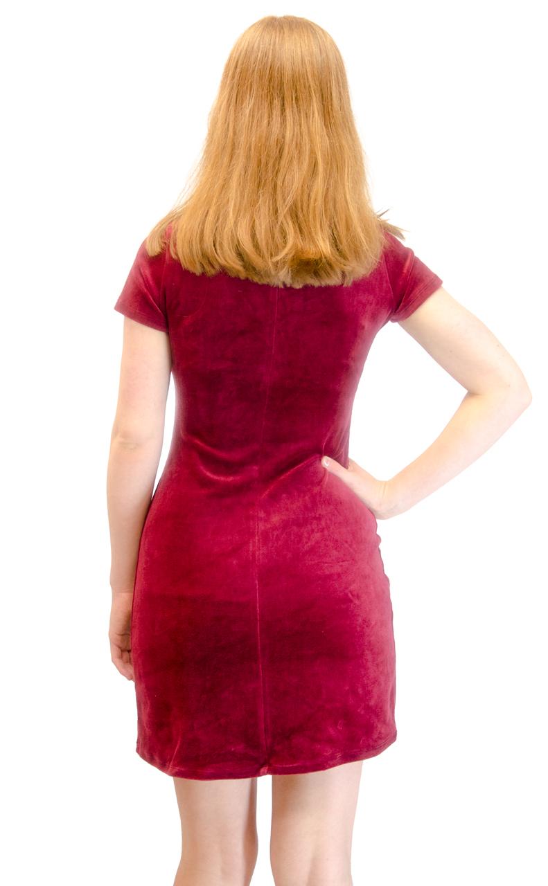 Vivian-039-s-Fashions-Dress-Velour-Short-Sleeve-Short-Dress thumbnail 24
