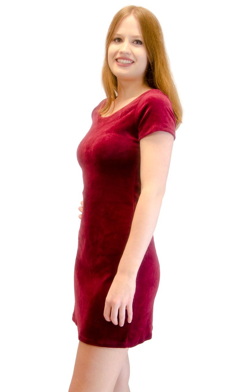 Vivian-039-s-Fashions-Dress-Velour-Short-Sleeve-Short-Dress thumbnail 26