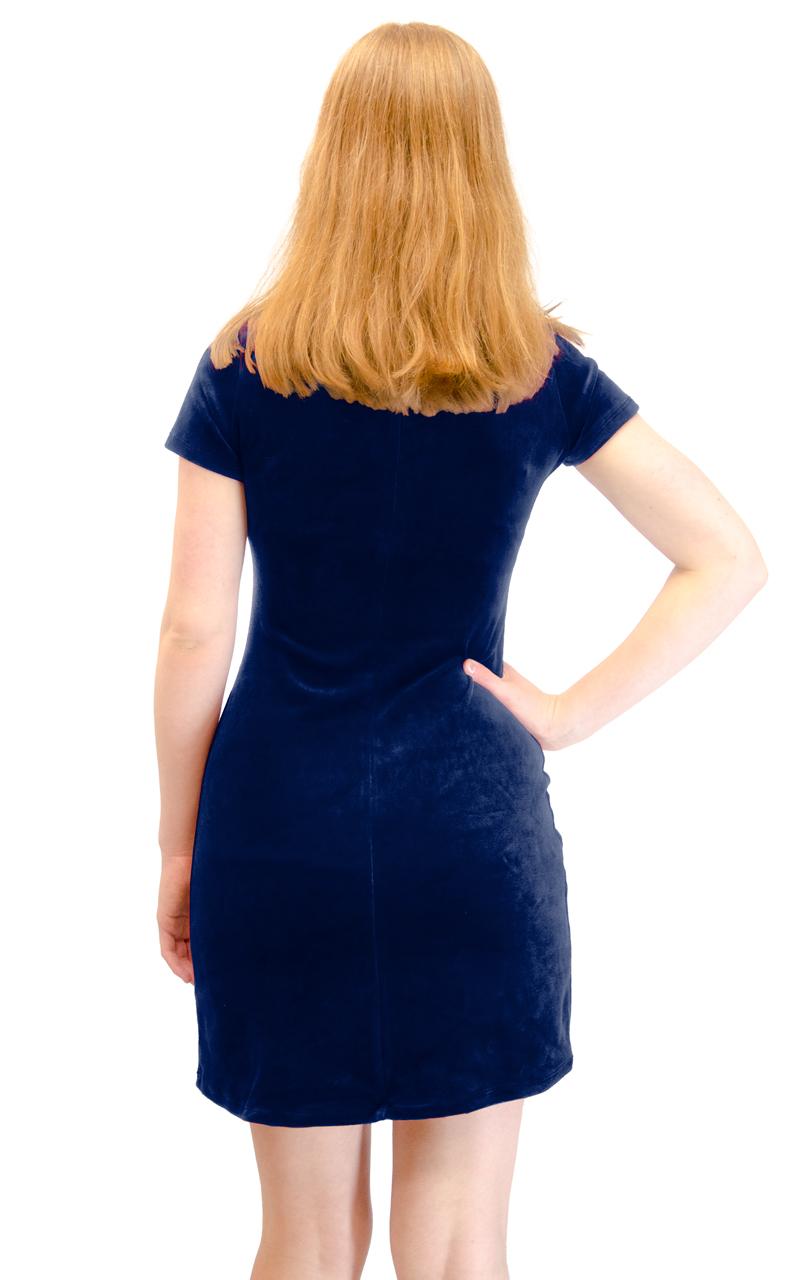 Vivian-039-s-Fashions-Dress-Velour-Short-Sleeve-Short-Dress thumbnail 15