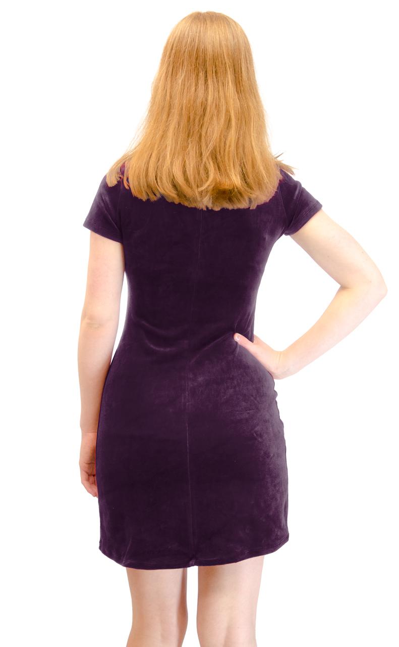 Vivian-039-s-Fashions-Dress-Velour-Short-Sleeve-Short-Dress thumbnail 21