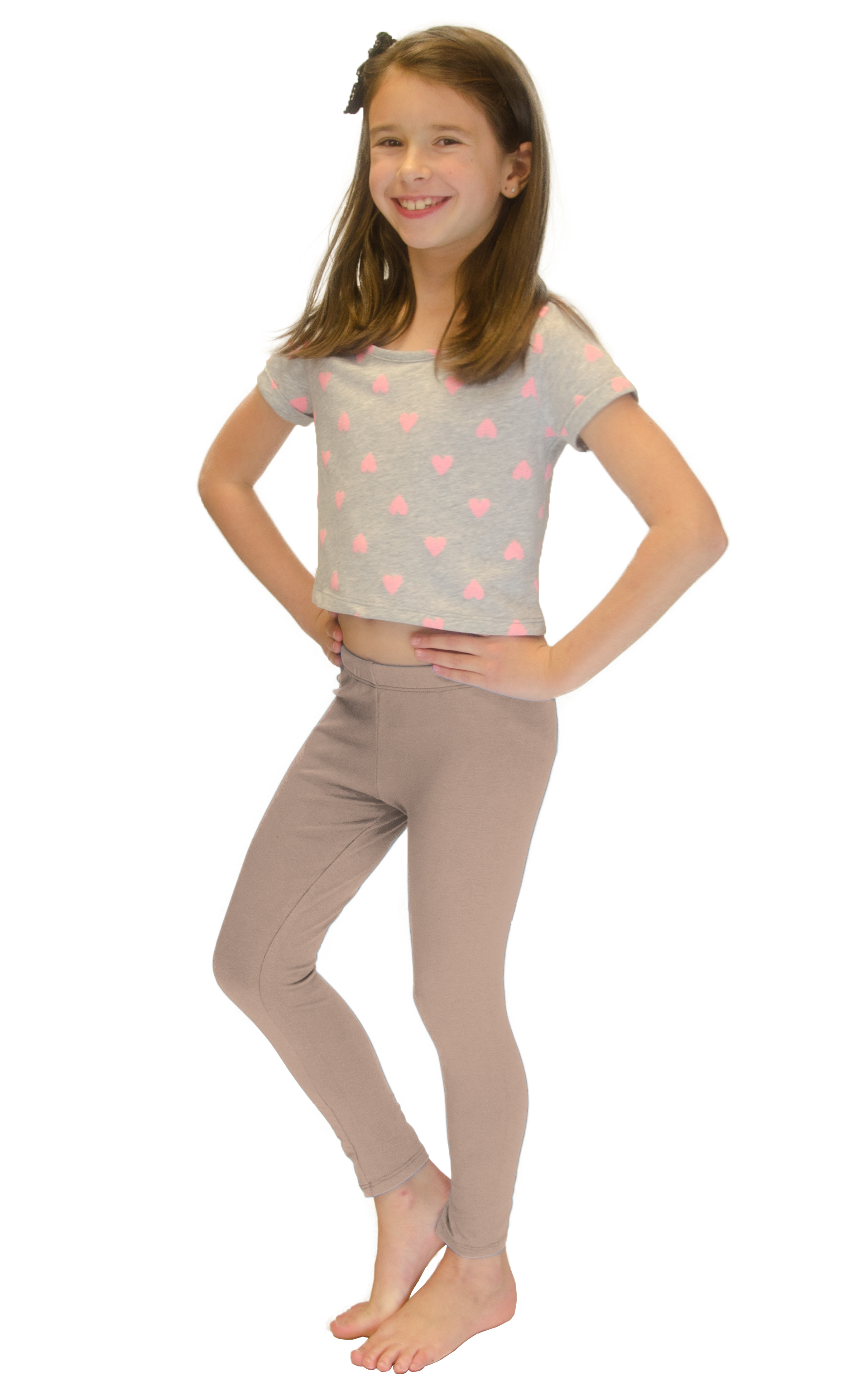 Vivian-039-s-Fashions-Long-Leggings-Girls-Cotton thumbnail 11