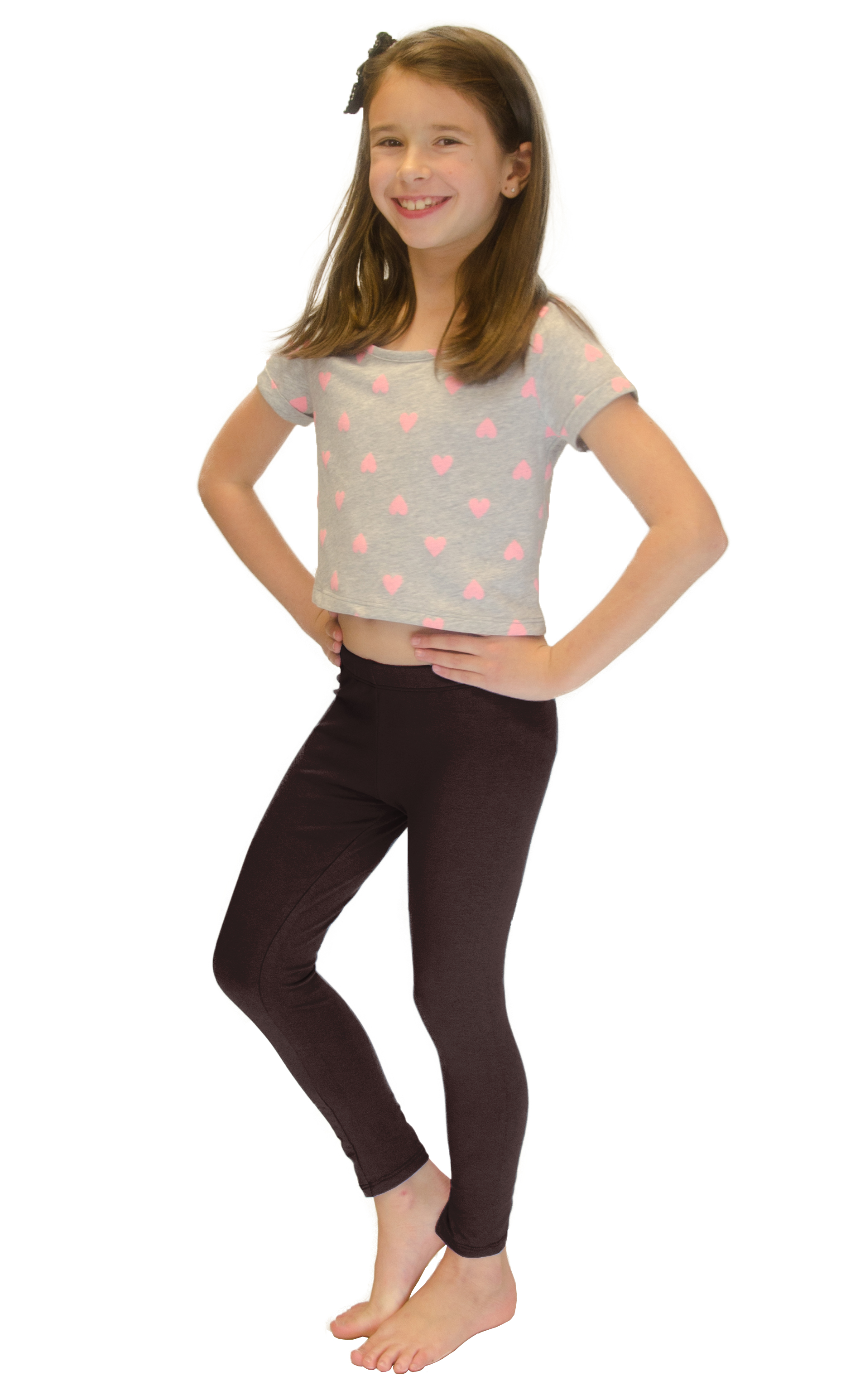 Vivian-039-s-Fashions-Long-Leggings-Girls-Cotton thumbnail 18