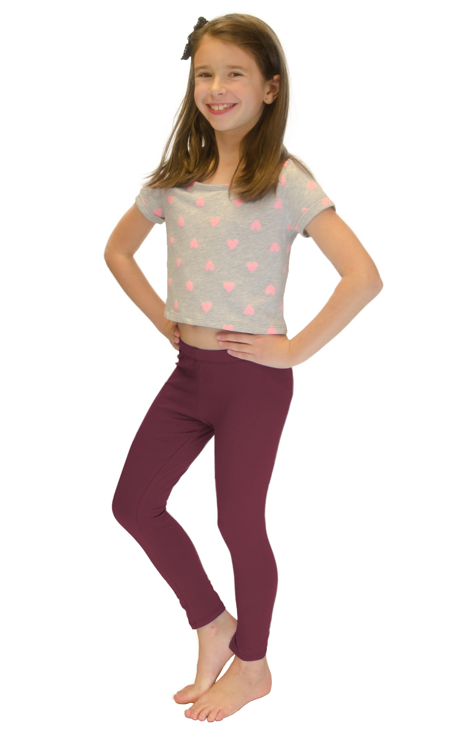 Vivian-039-s-Fashions-Long-Leggings-Girls-Cotton thumbnail 22