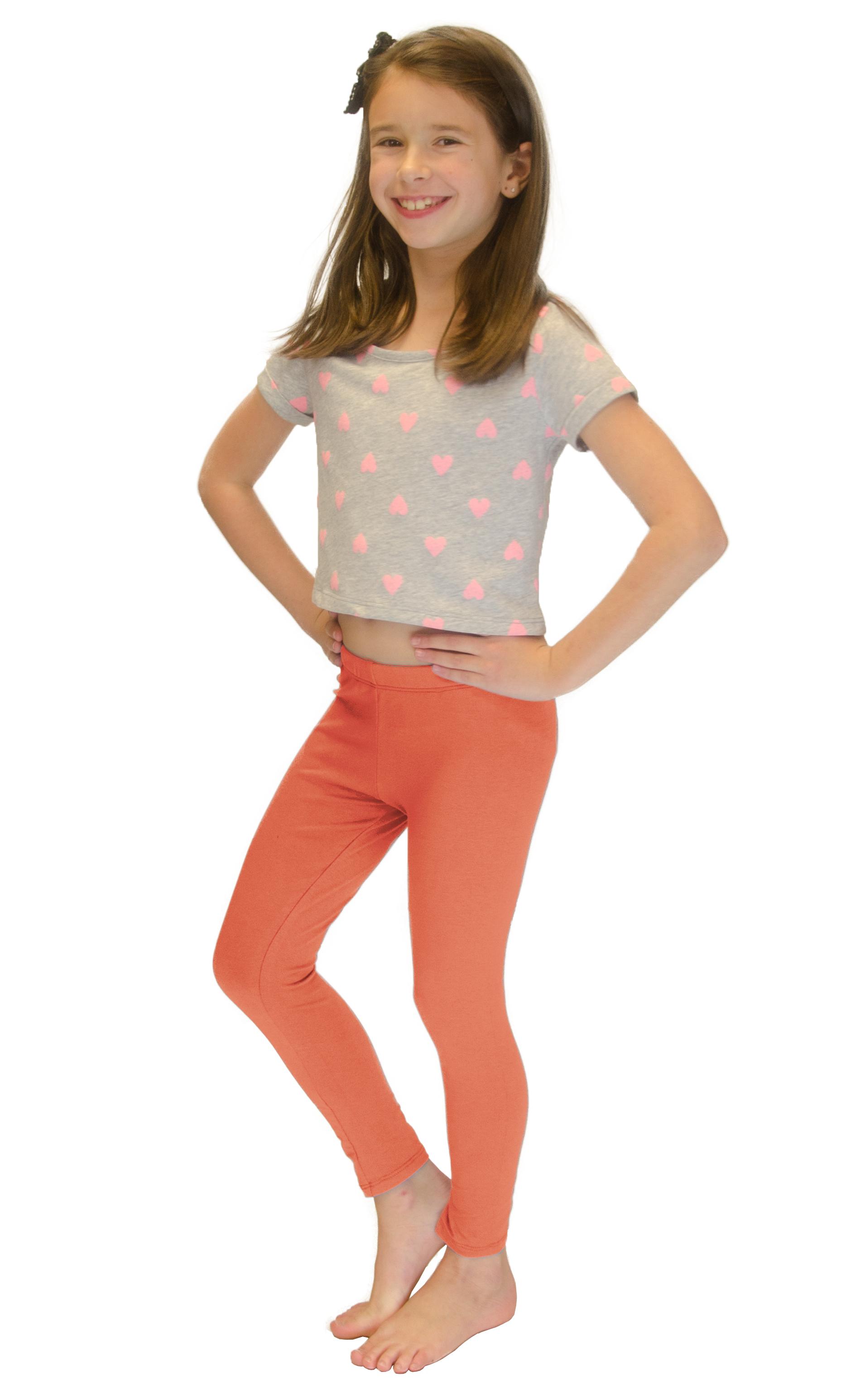 Vivian-039-s-Fashions-Long-Leggings-Girls-Cotton thumbnail 29