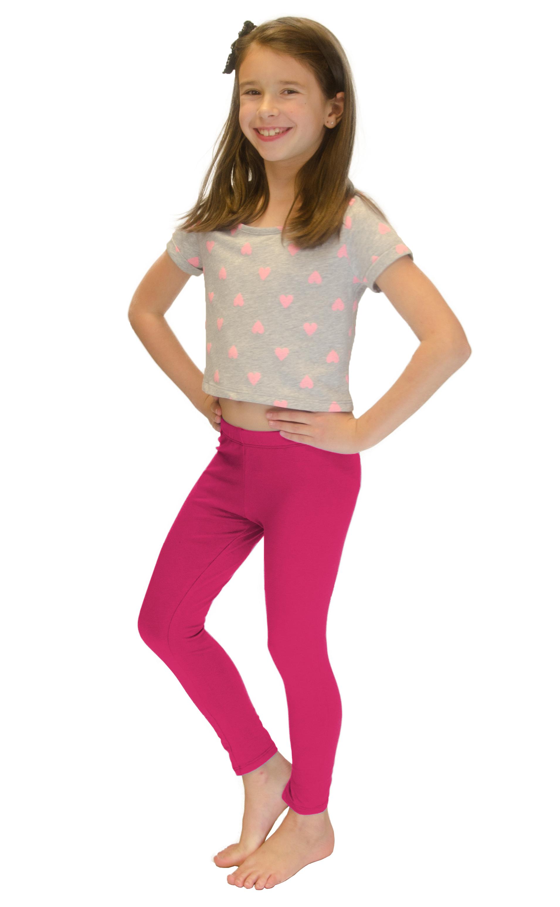 Vivian-039-s-Fashions-Long-Leggings-Girls-Cotton thumbnail 33