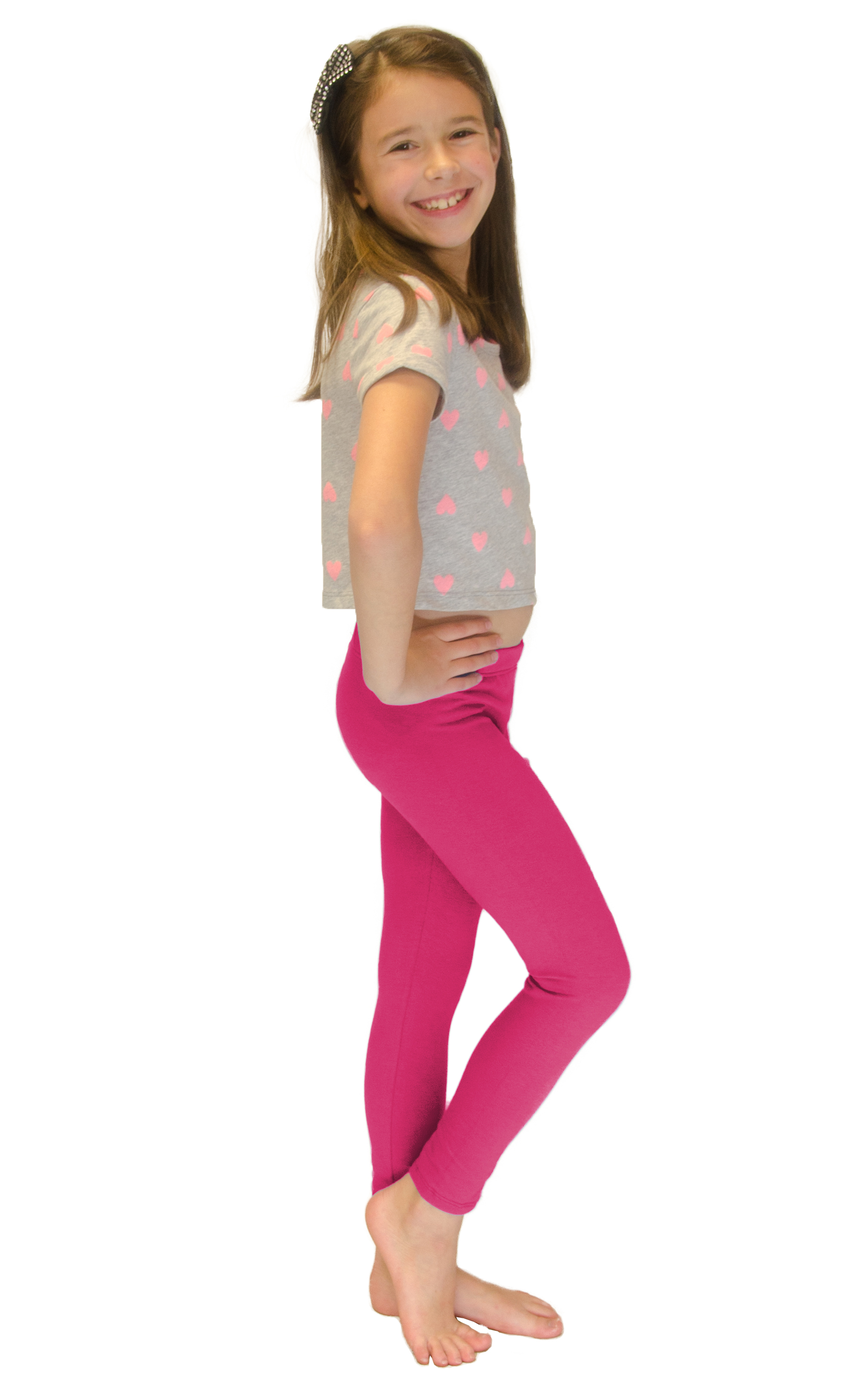 Vivian-039-s-Fashions-Long-Leggings-Girls-Cotton thumbnail 34