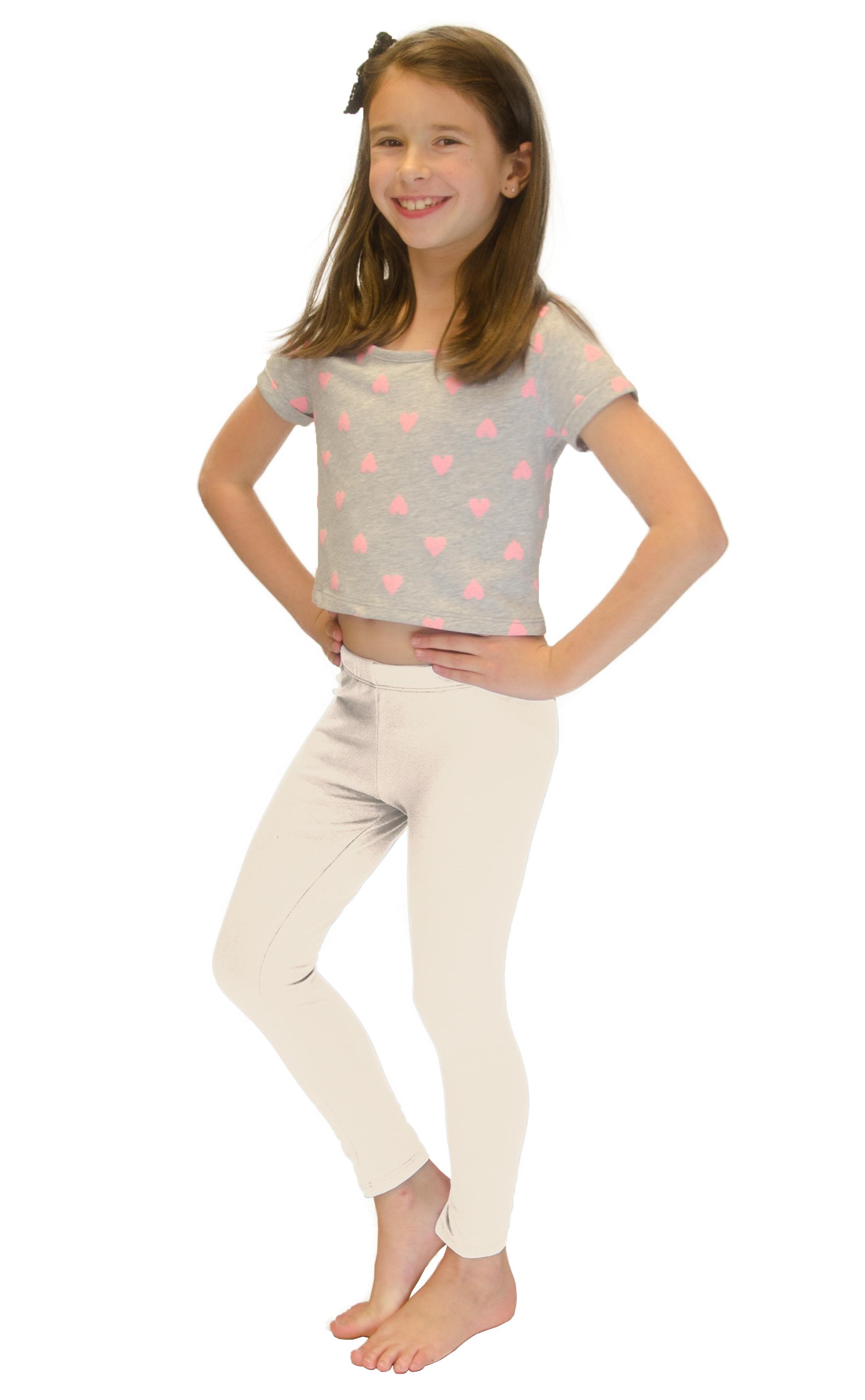 Vivian-039-s-Fashions-Long-Leggings-Girls-Cotton thumbnail 42