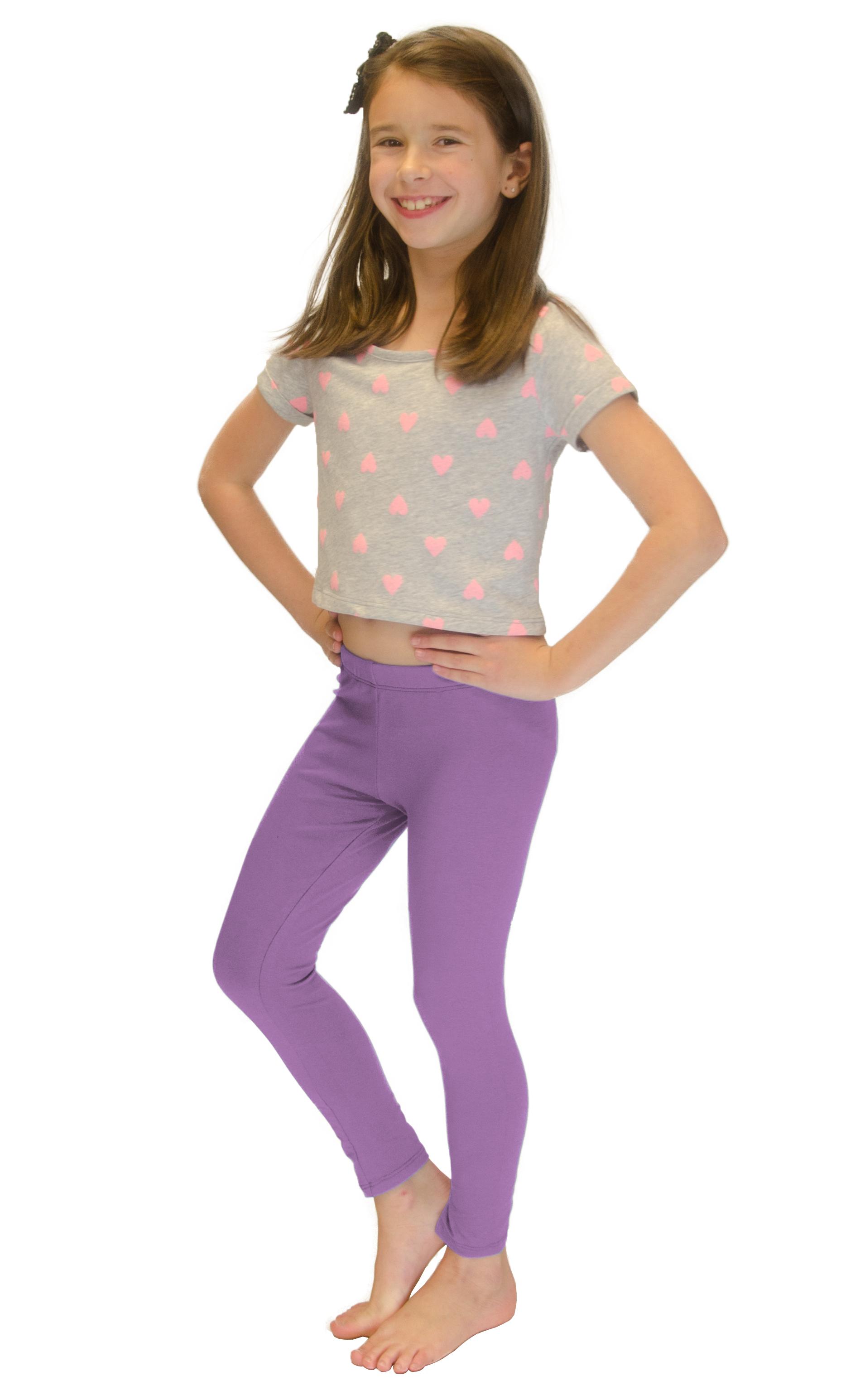 Vivian-039-s-Fashions-Long-Leggings-Girls-Cotton thumbnail 46