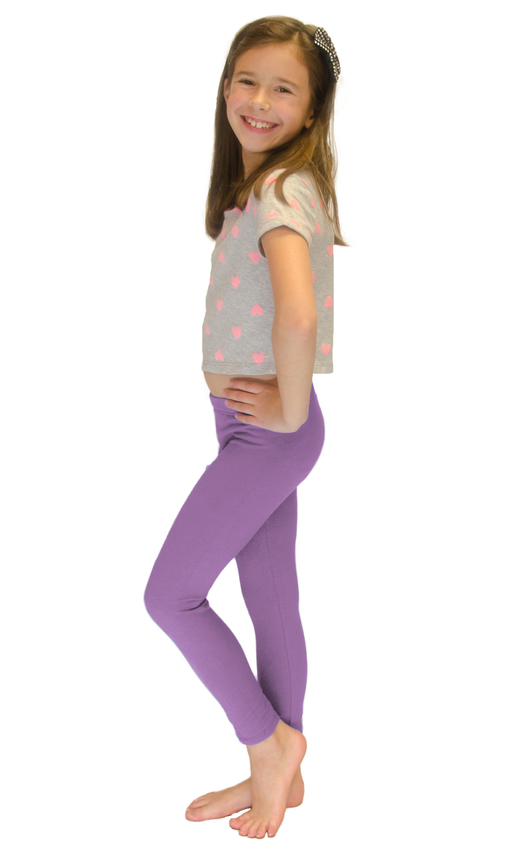 Vivian-039-s-Fashions-Long-Leggings-Girls-Cotton thumbnail 47