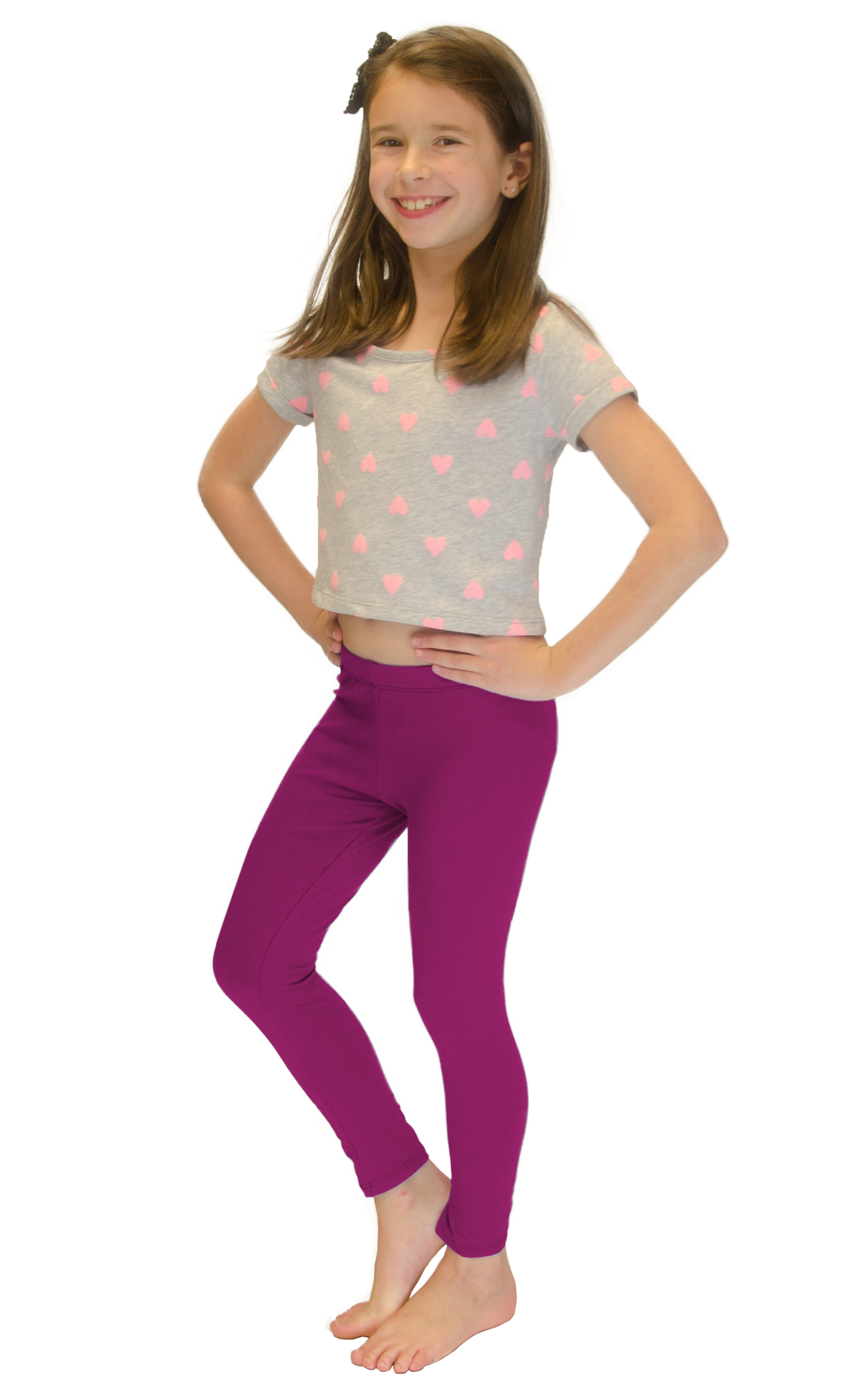 Vivian-039-s-Fashions-Long-Leggings-Girls-Cotton thumbnail 56