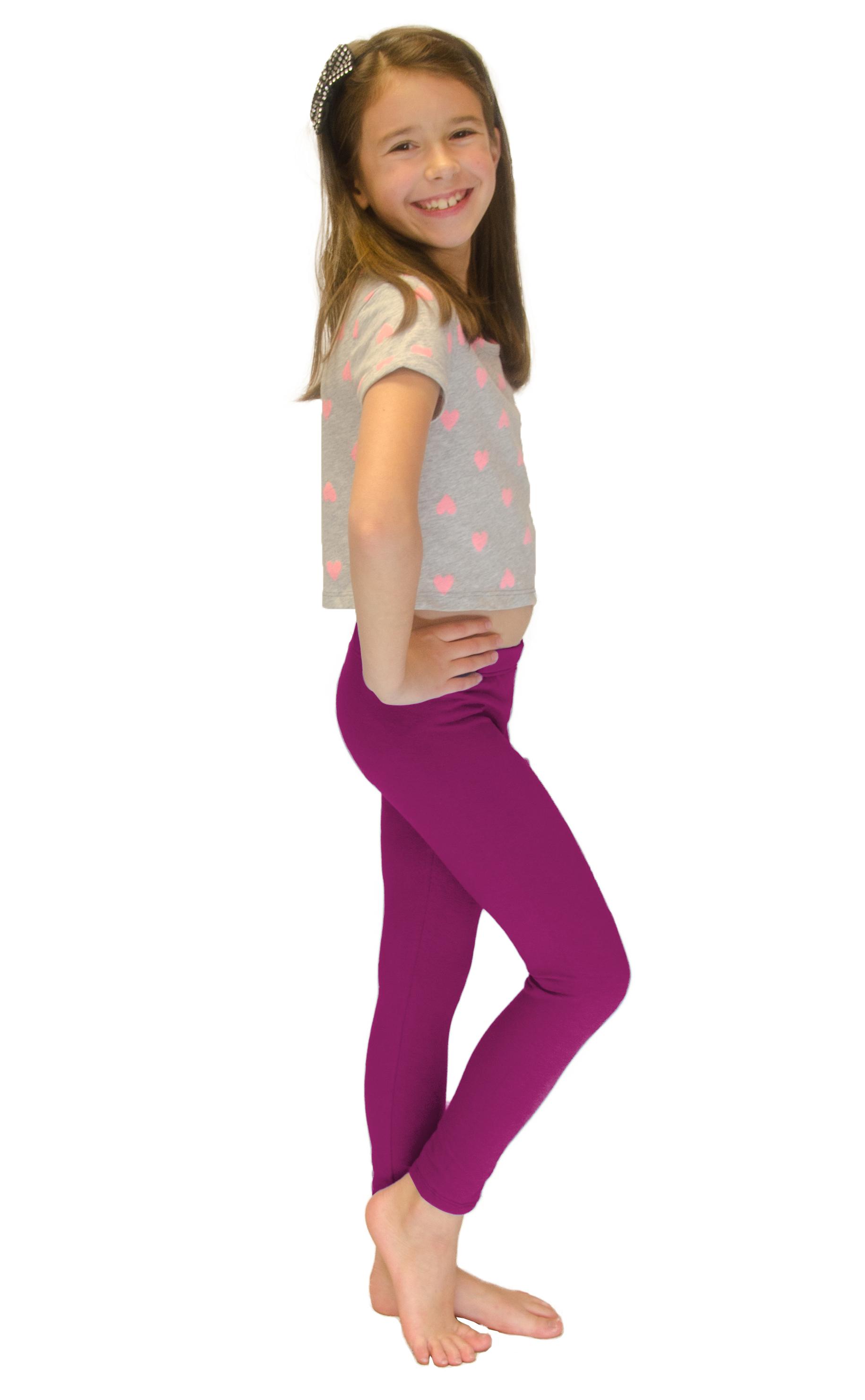 Vivian-039-s-Fashions-Long-Leggings-Girls-Cotton thumbnail 57