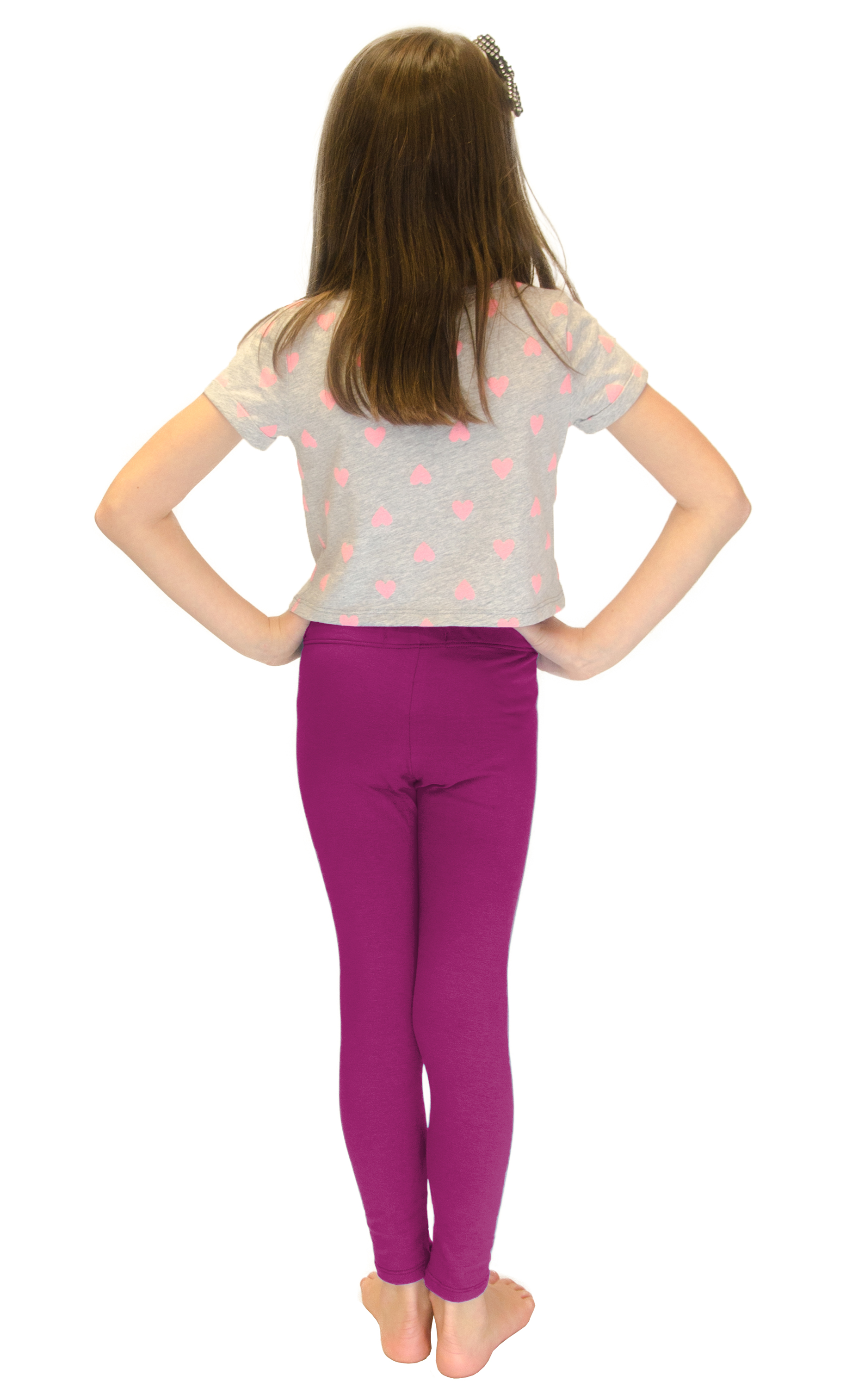 Vivian-039-s-Fashions-Long-Leggings-Girls-Cotton thumbnail 58