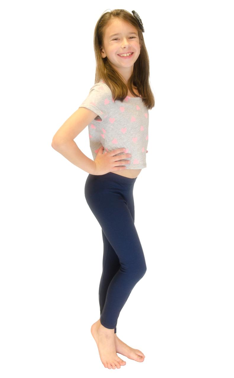 Vivian-039-s-Fashions-Long-Leggings-Girls-Cotton thumbnail 61