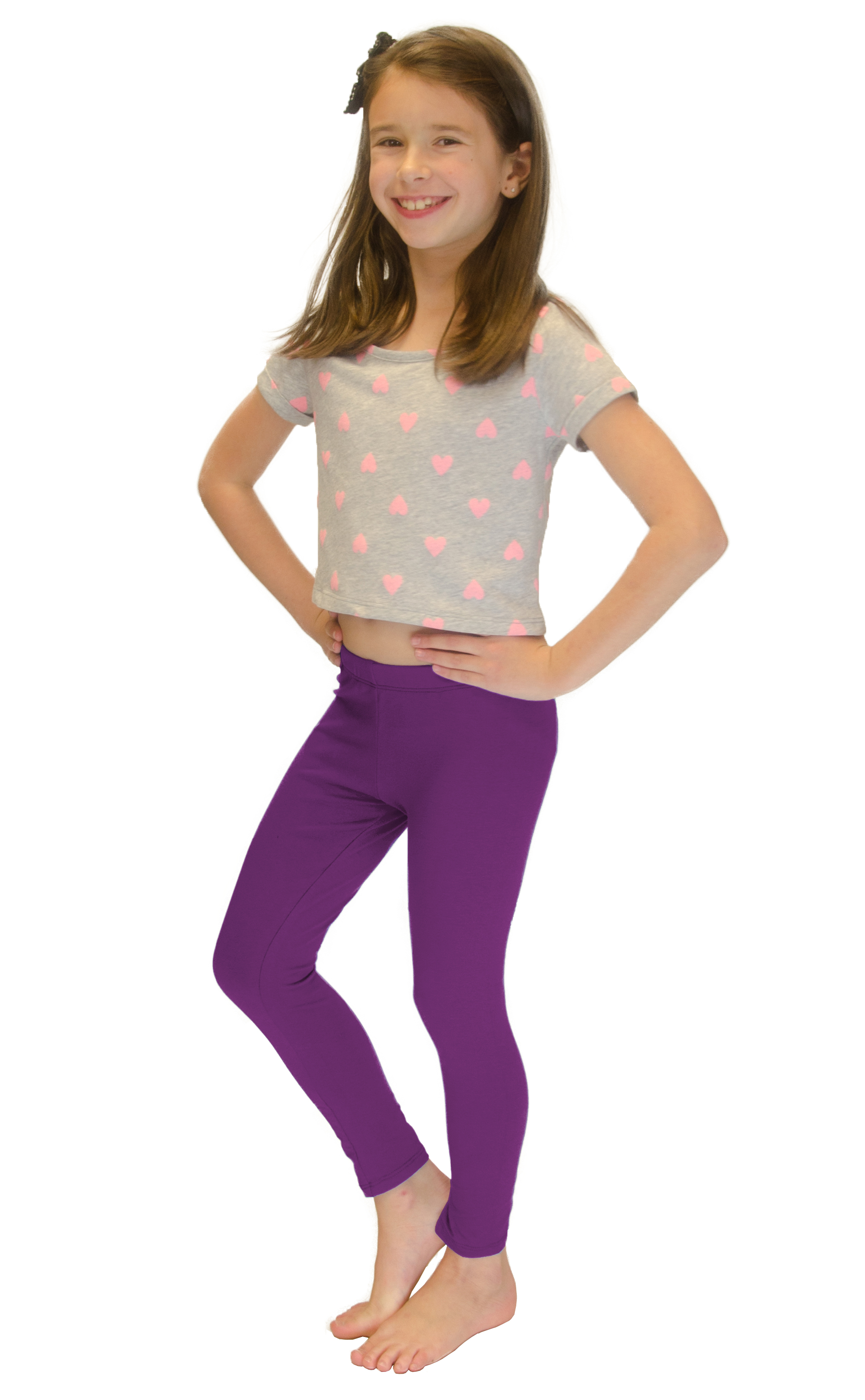 Vivian-039-s-Fashions-Long-Leggings-Girls-Cotton thumbnail 73