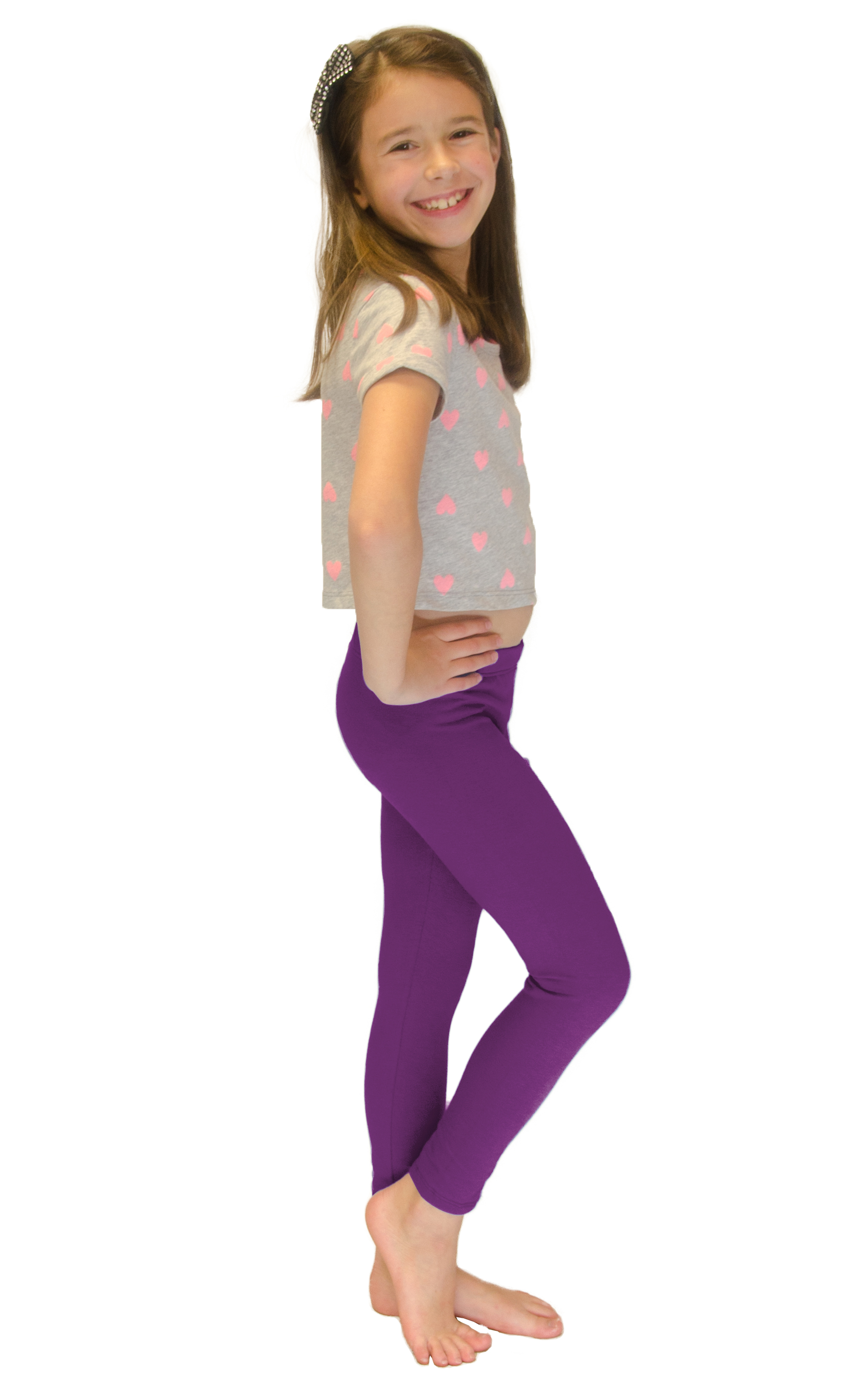 Vivian-039-s-Fashions-Long-Leggings-Girls-Cotton thumbnail 74