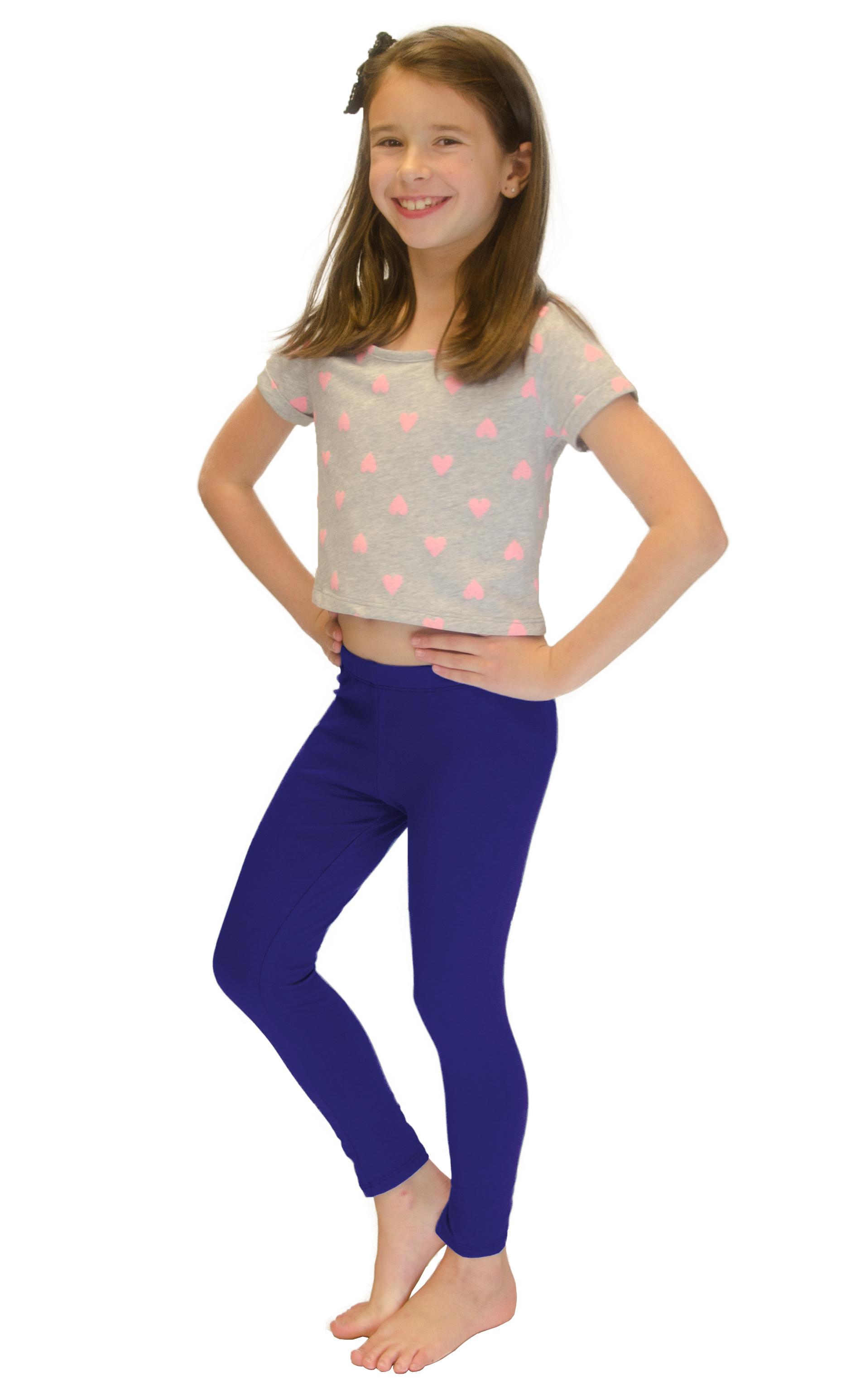 Vivian-039-s-Fashions-Long-Leggings-Girls-Cotton thumbnail 81