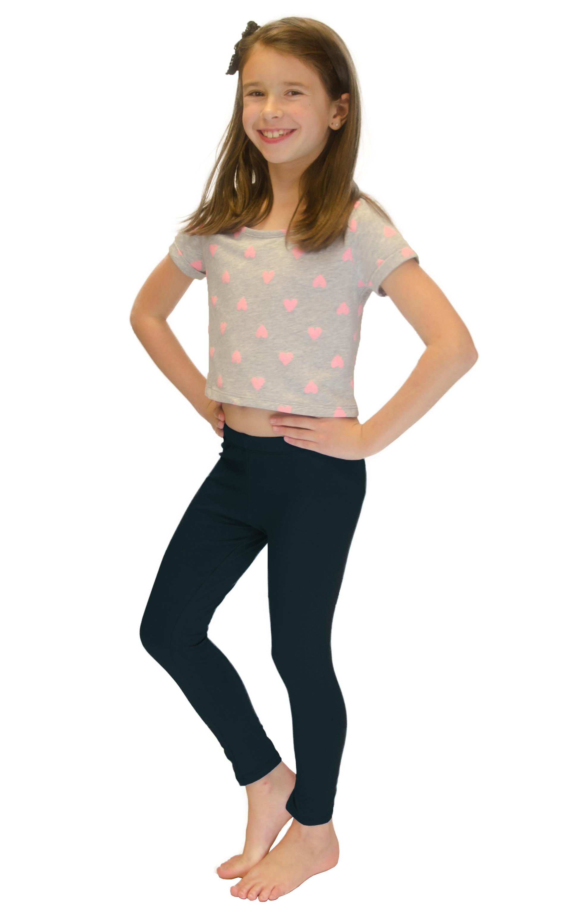 Vivian-039-s-Fashions-Long-Leggings-Girls-Cotton thumbnail 85