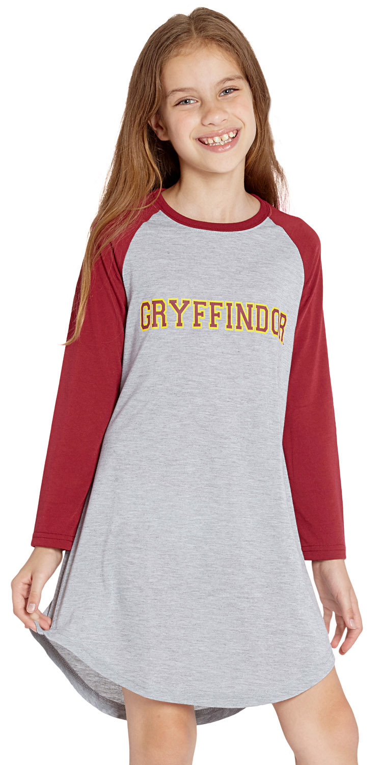 ebaa9674a9 Details about Big Girls  Harry Potter Pajama Nightgown Sleep Shirt -  Gryffindor