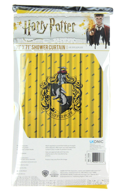 Harry Potter Shower Curtain Hogwarts Houses Gryffindor Slytherin Ravenclaw
