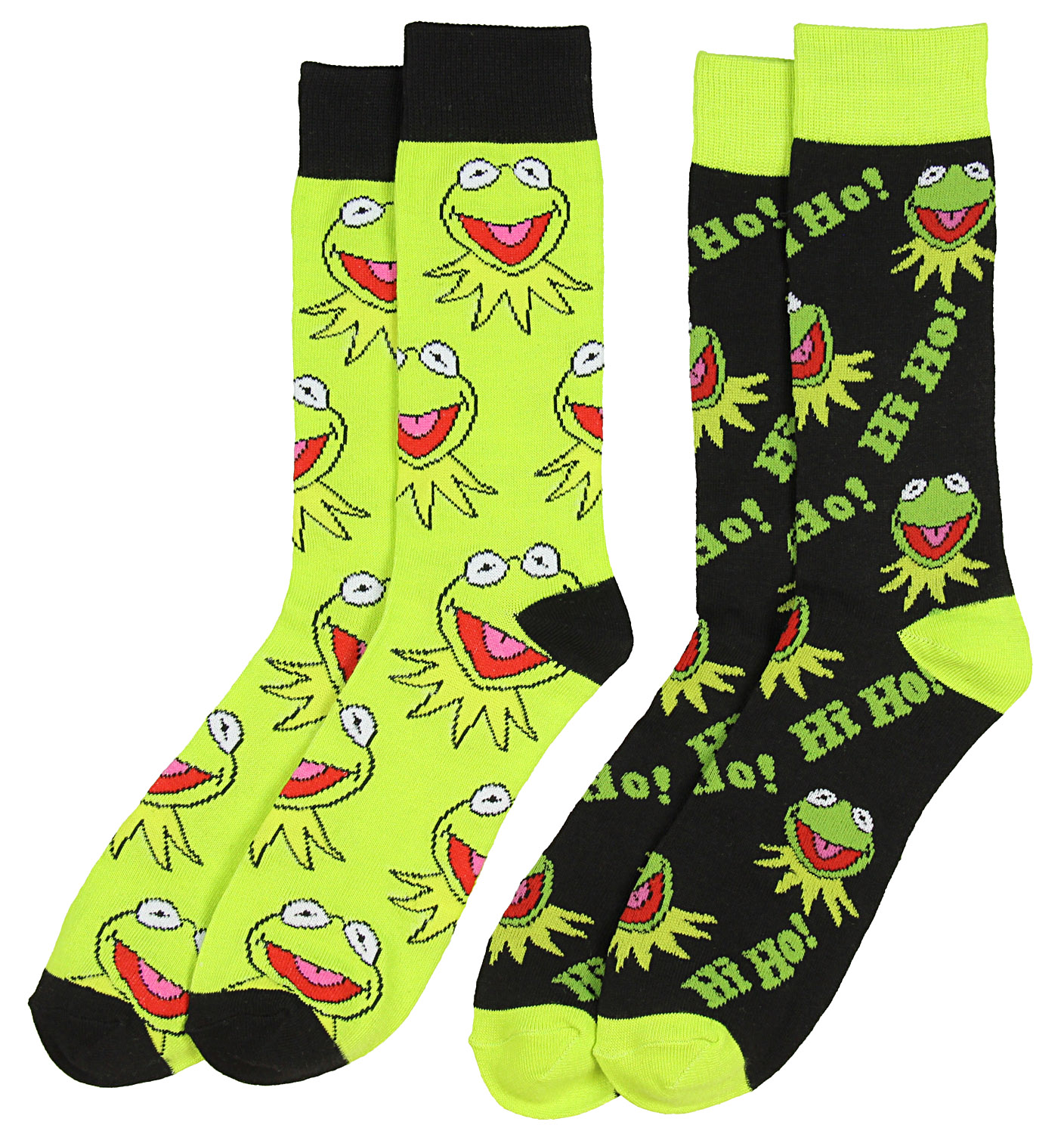 d0c0713a3a1 These sock are a must in your wardrobe if you are fan of the green frog. 2  set of crew length socks.