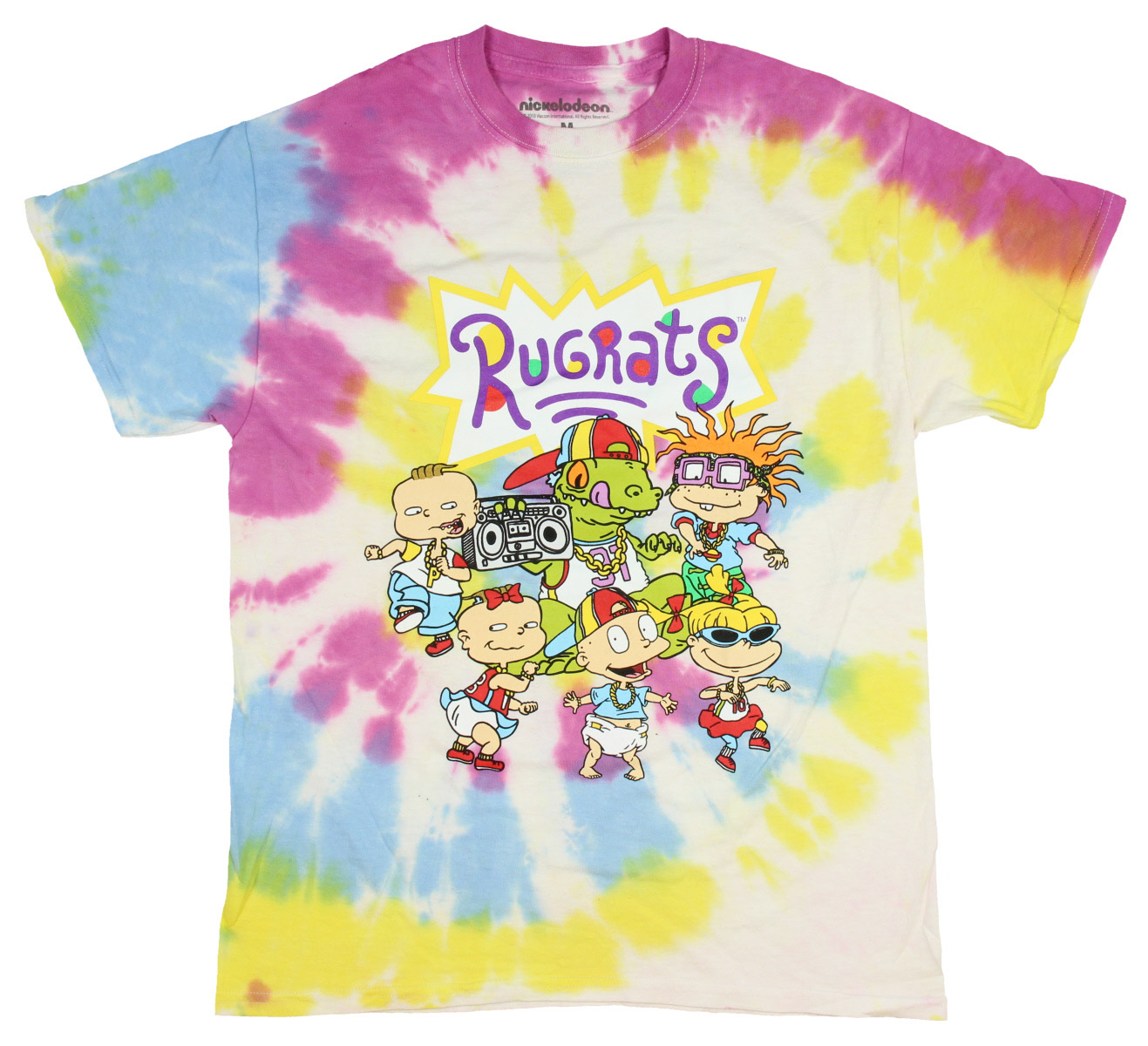 2ed477ac634 Nickelodeon Rugrats Shirt 90s Cartoon Characters Tie Dye T-shirt (Small)