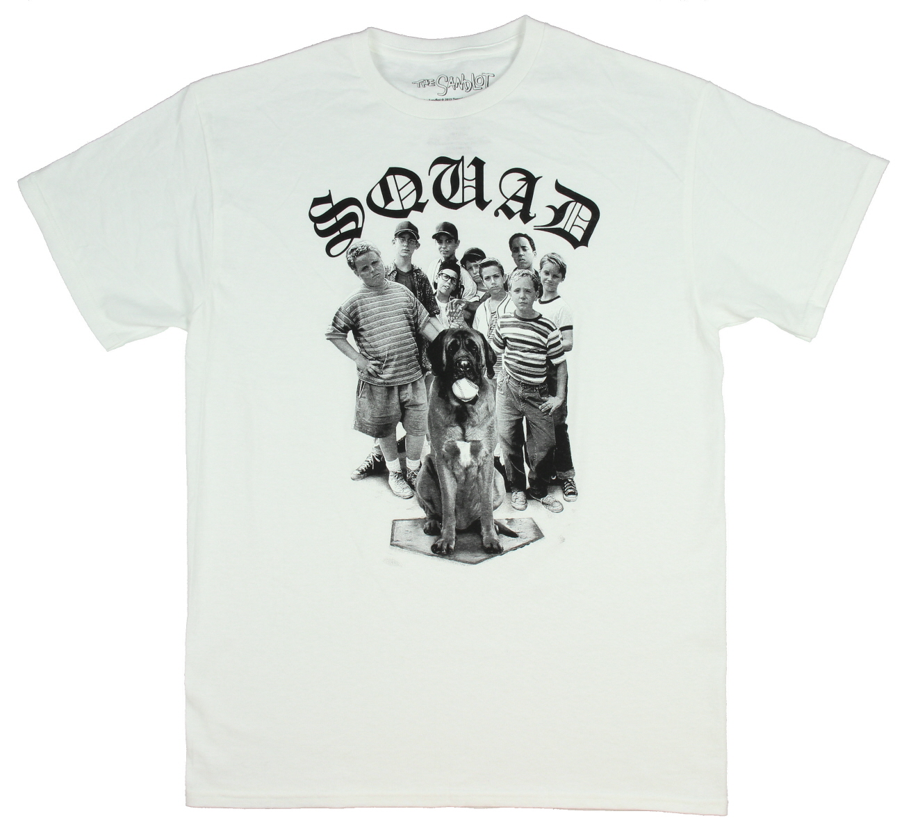 20f560377 The Sandlot Men's SQUAD Group Photo Licensed T-Shirt (Small)