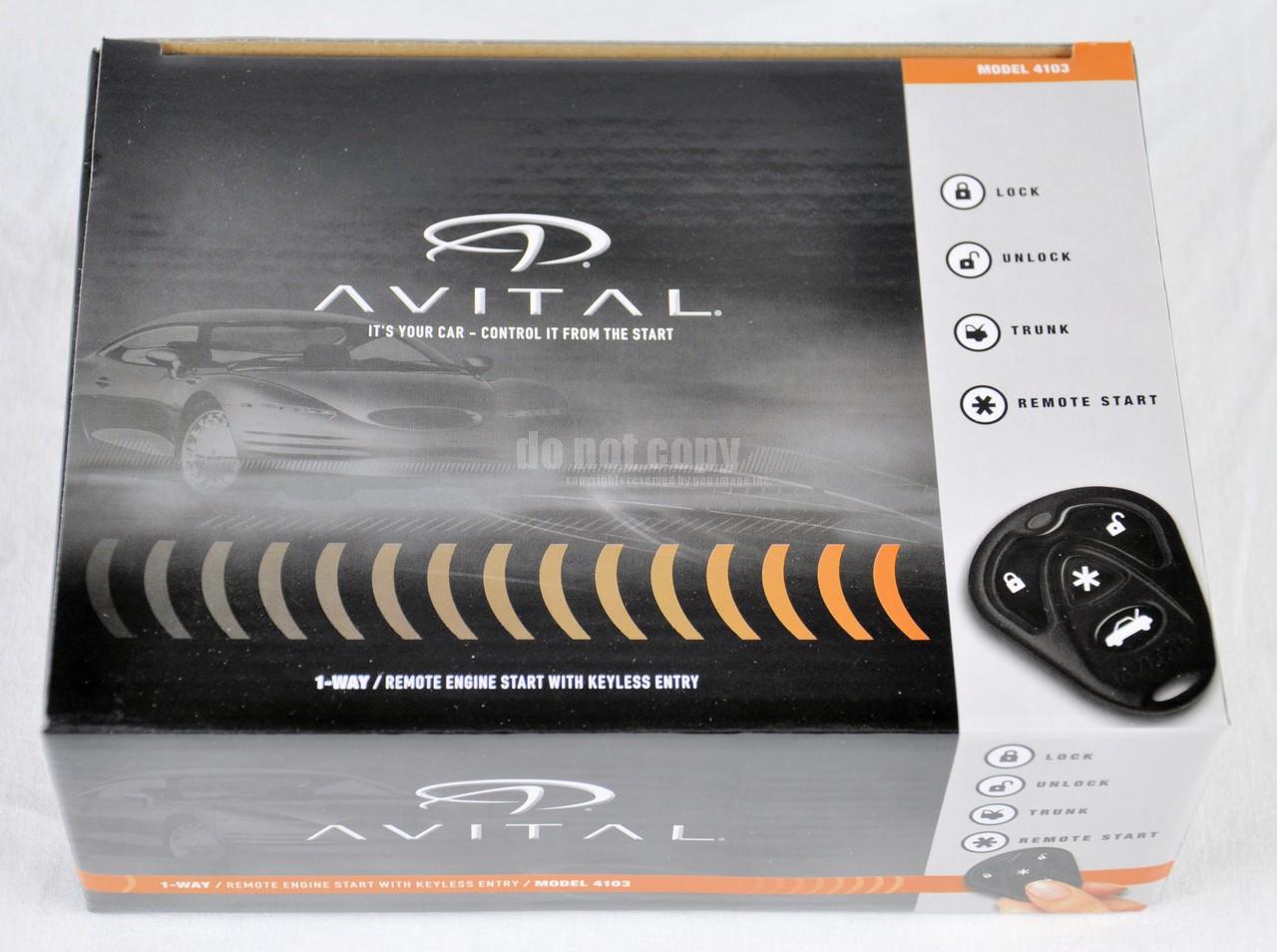 avital avistart 4103lxl remote car start starter keyless. Black Bedroom Furniture Sets. Home Design Ideas