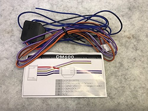 compustar dm600 6 pin door lock polarity inverter trunk car alarm wire  harness p