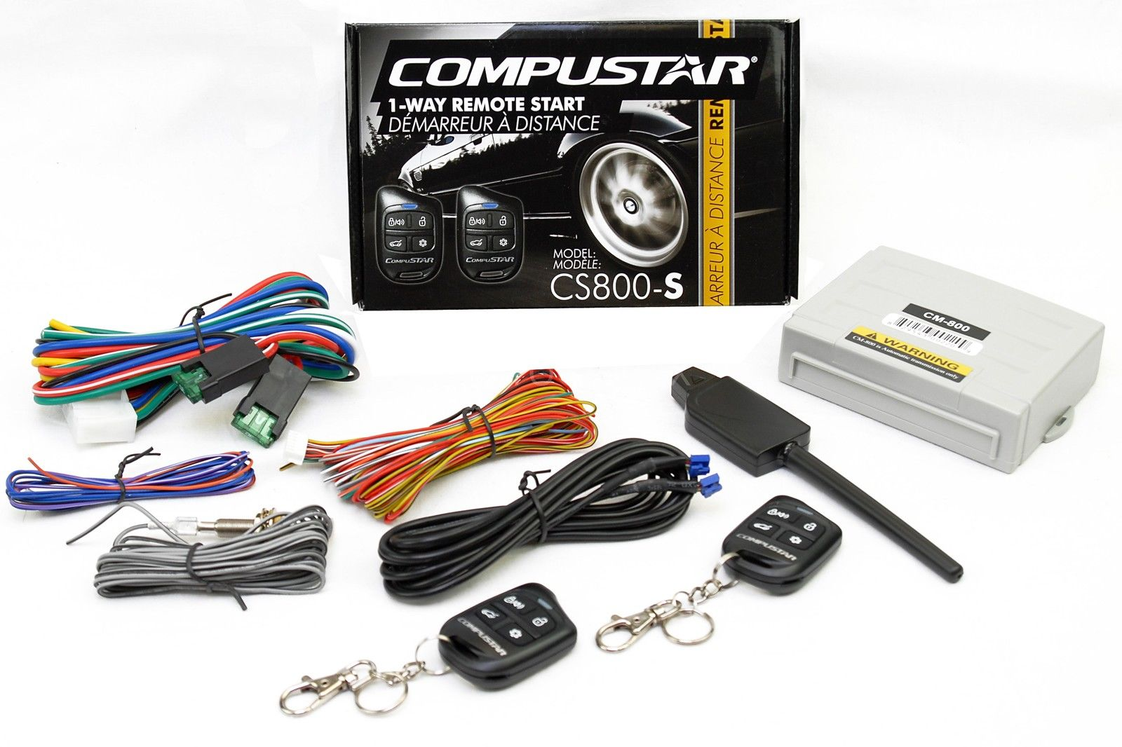 Compustar Car Auto Remote Start Starter w\ Keyless Entry & Bypass Module  Bundle