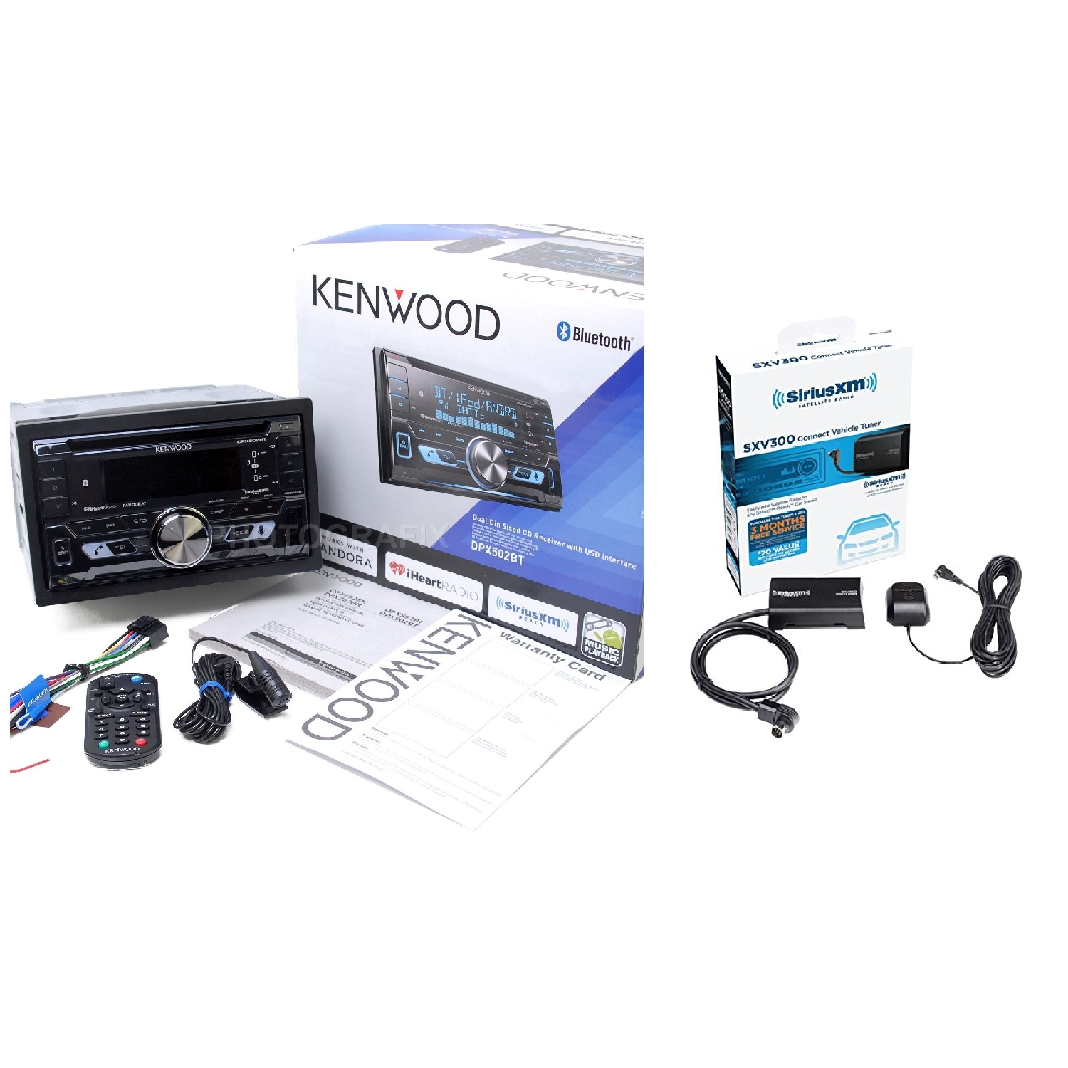 kenwood dpx502bt double din cd bluetooth car stereo + satellite radio tuner