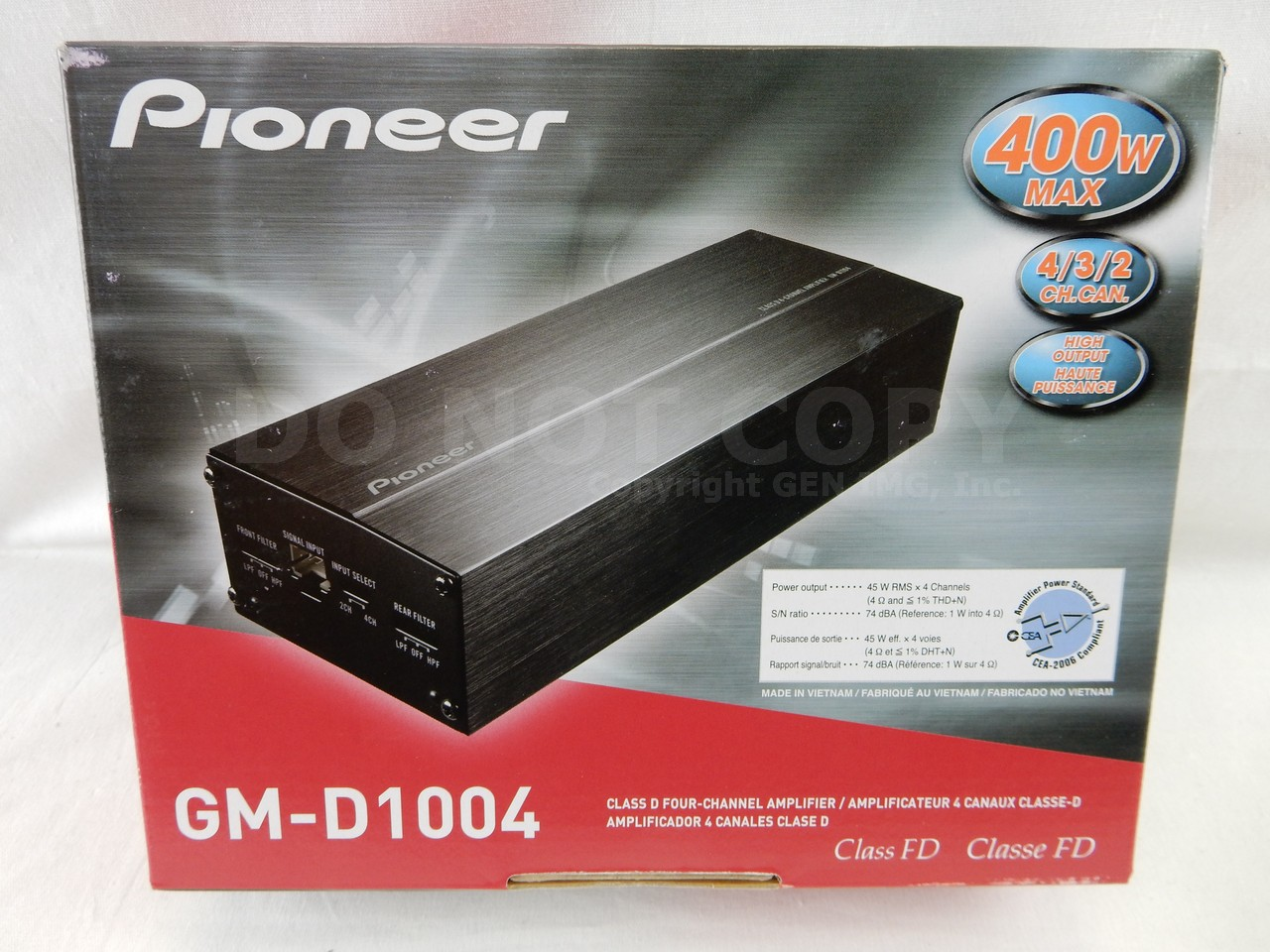 pioneer gm d1004 car amplifier ebay. Black Bedroom Furniture Sets. Home Design Ideas