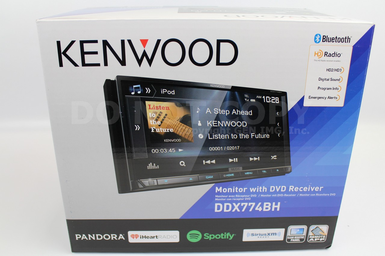 kenwood ddx774bh double din stereo bluetooth hd radio w 6. Black Bedroom Furniture Sets. Home Design Ideas