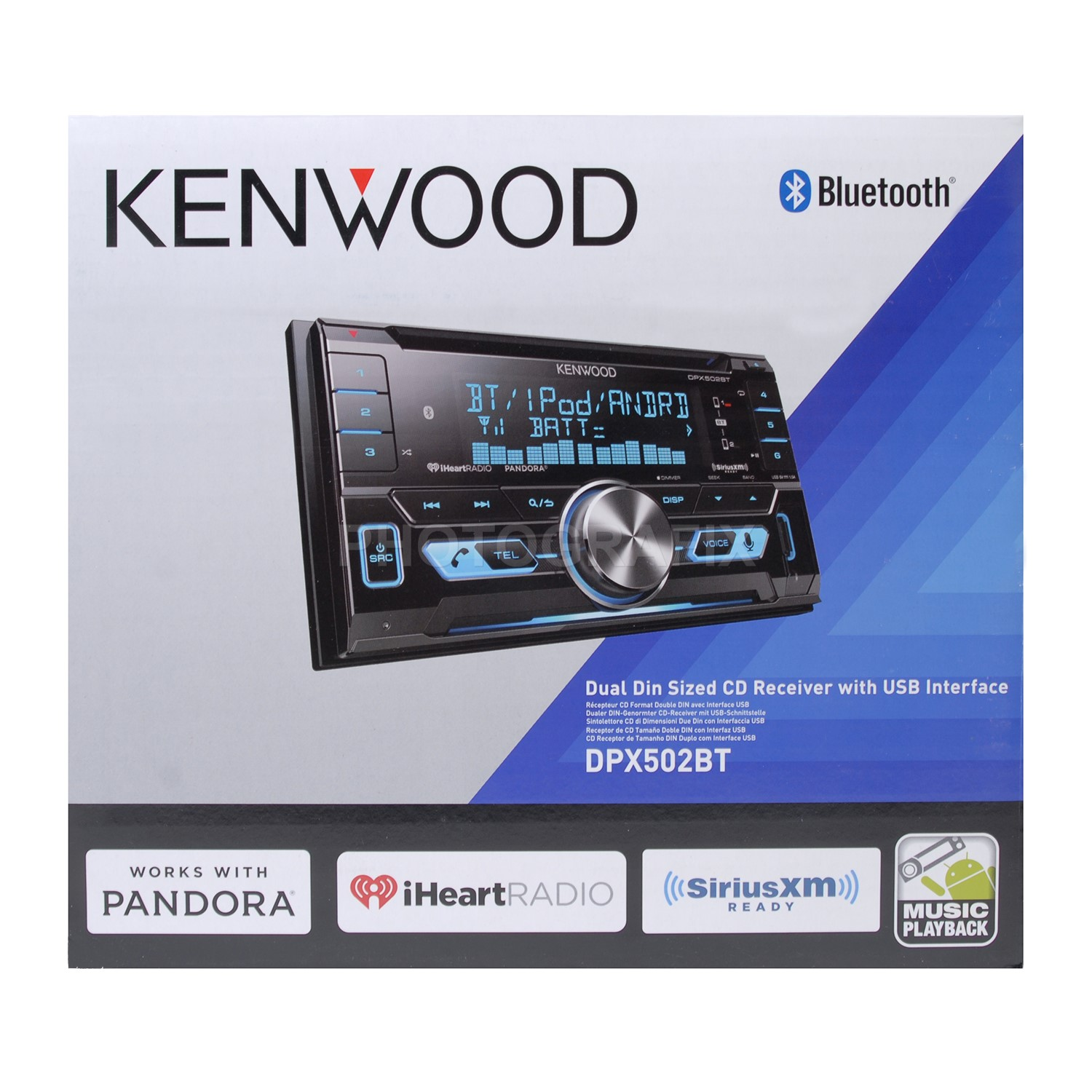 Kenwood DPX502BT Double DIN CD Bluetooth Car Stereo