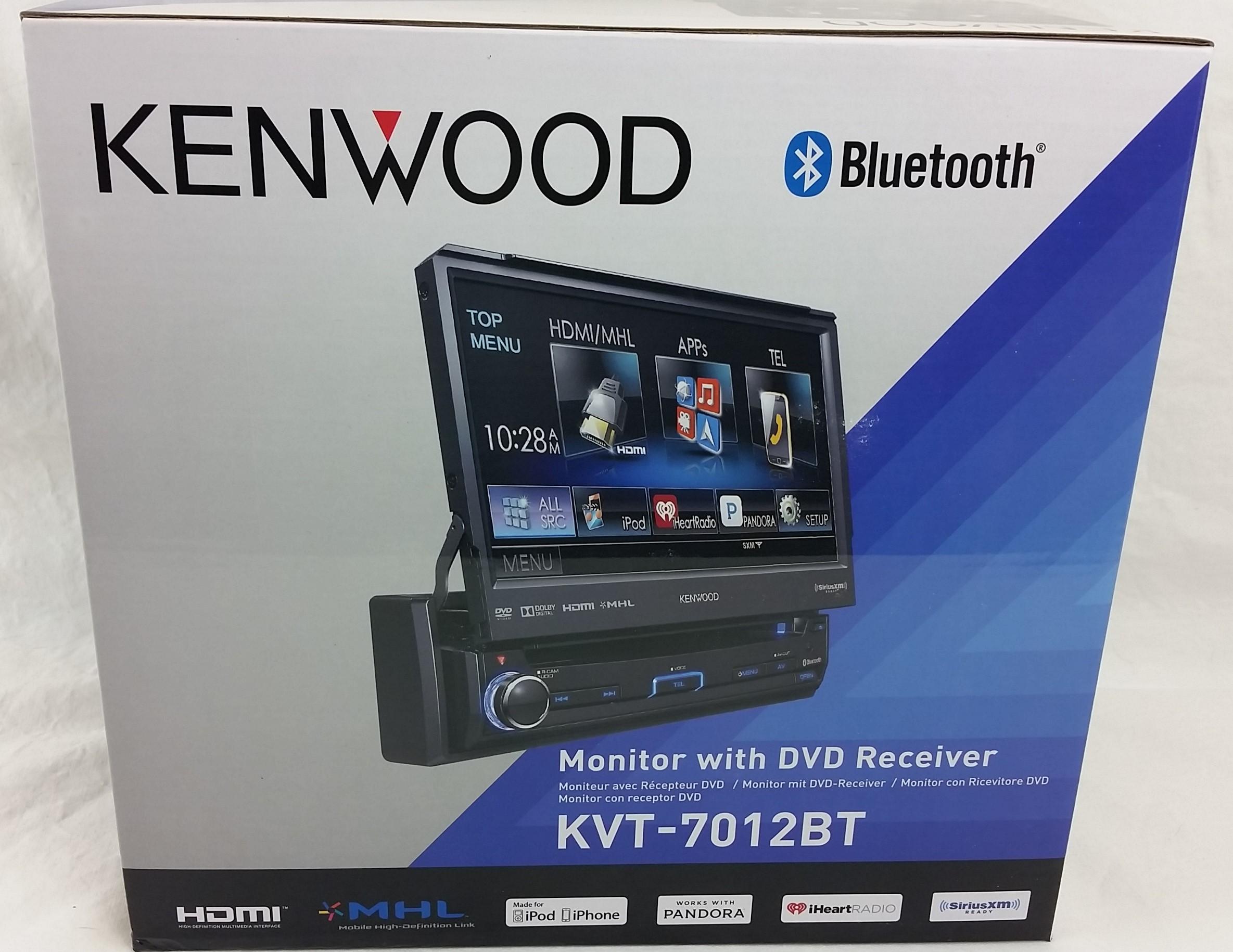 "Kenwood KVT-7012BT 6.95"" Single DIN Bluetooth In-Dash Flip"