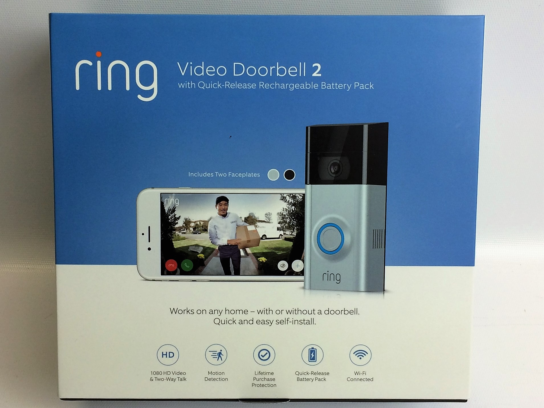 new ring doorbell 2 wifi enabled smart phone video. Black Bedroom Furniture Sets. Home Design Ideas