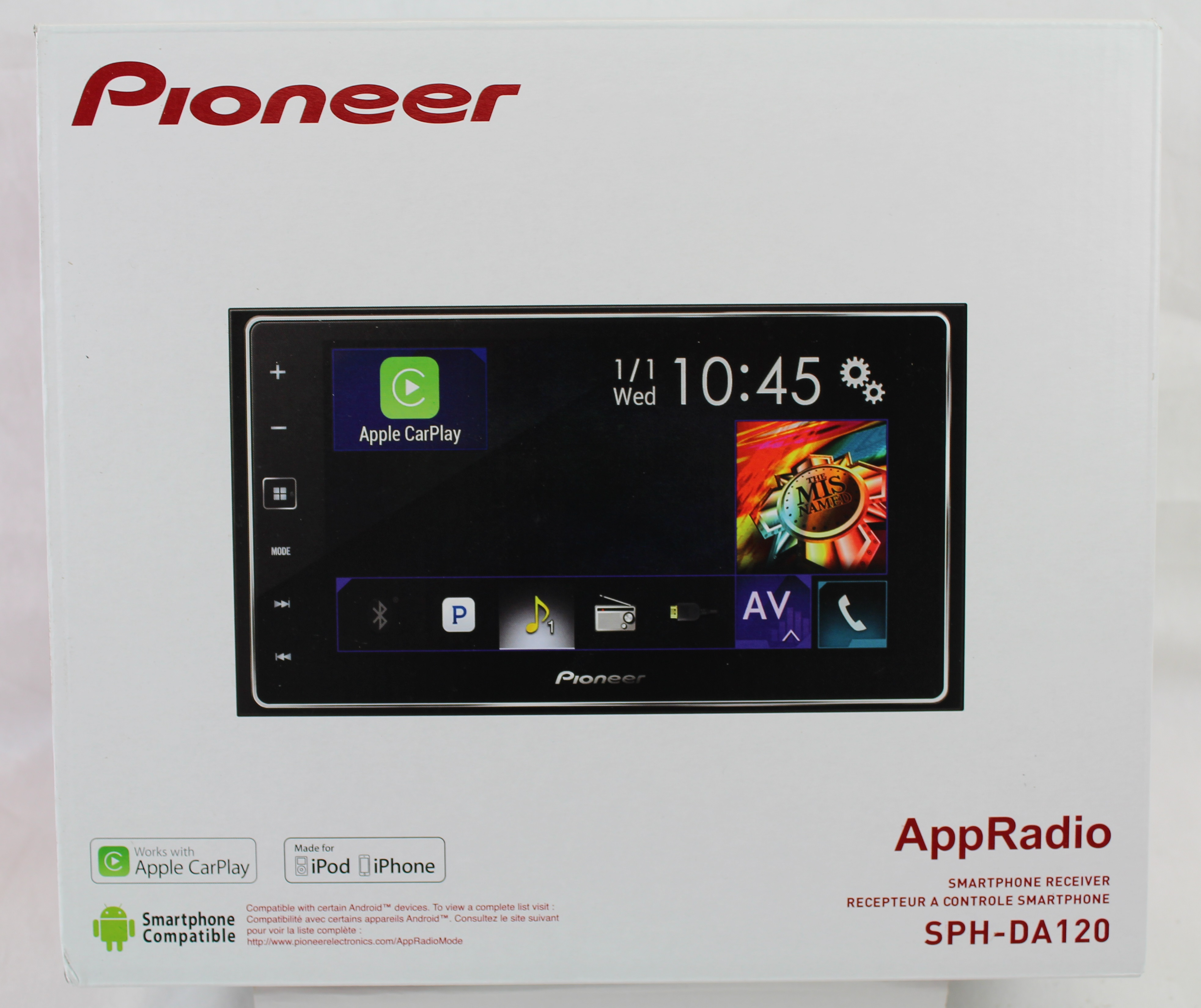 new pioneer sph da120 appradio 4 double din 6 2. Black Bedroom Furniture Sets. Home Design Ideas