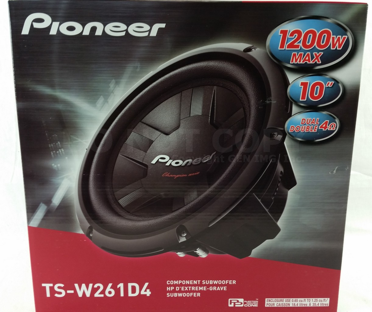 pioneer ts w261d4 1200w 10 champion series dual 4 ohm car subwoofer tsw261d4 ebay. Black Bedroom Furniture Sets. Home Design Ideas