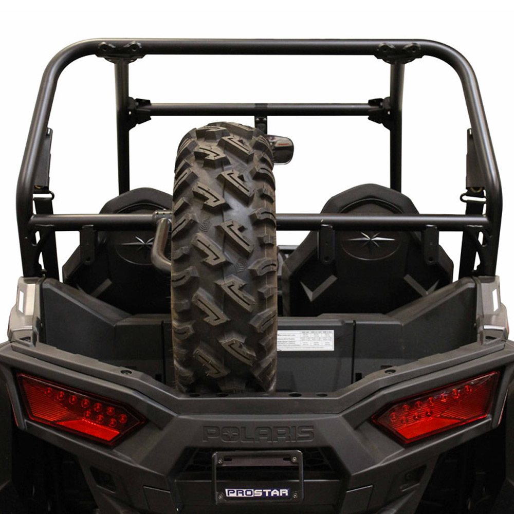 Black Bed Mounted Spare Tire Carrier