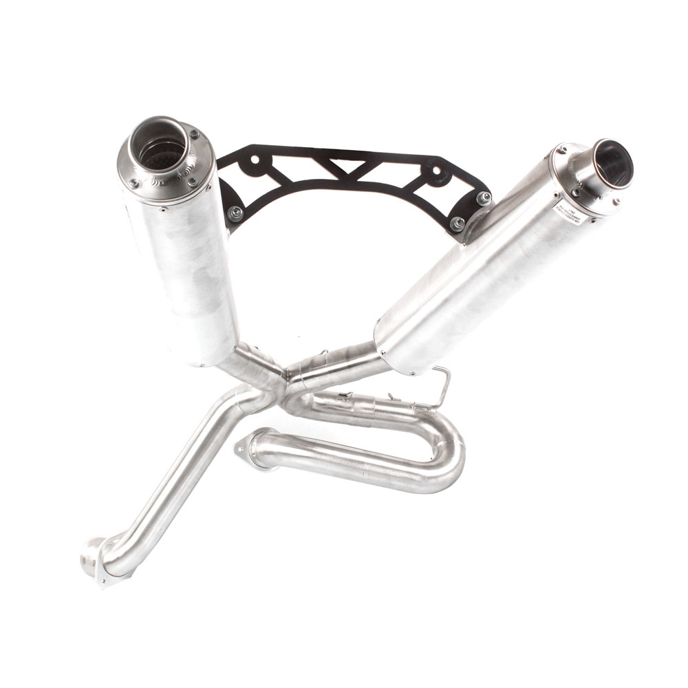 Performance Dual 3/4 Brushed Aluminum Exhaust & Brushed End Cap