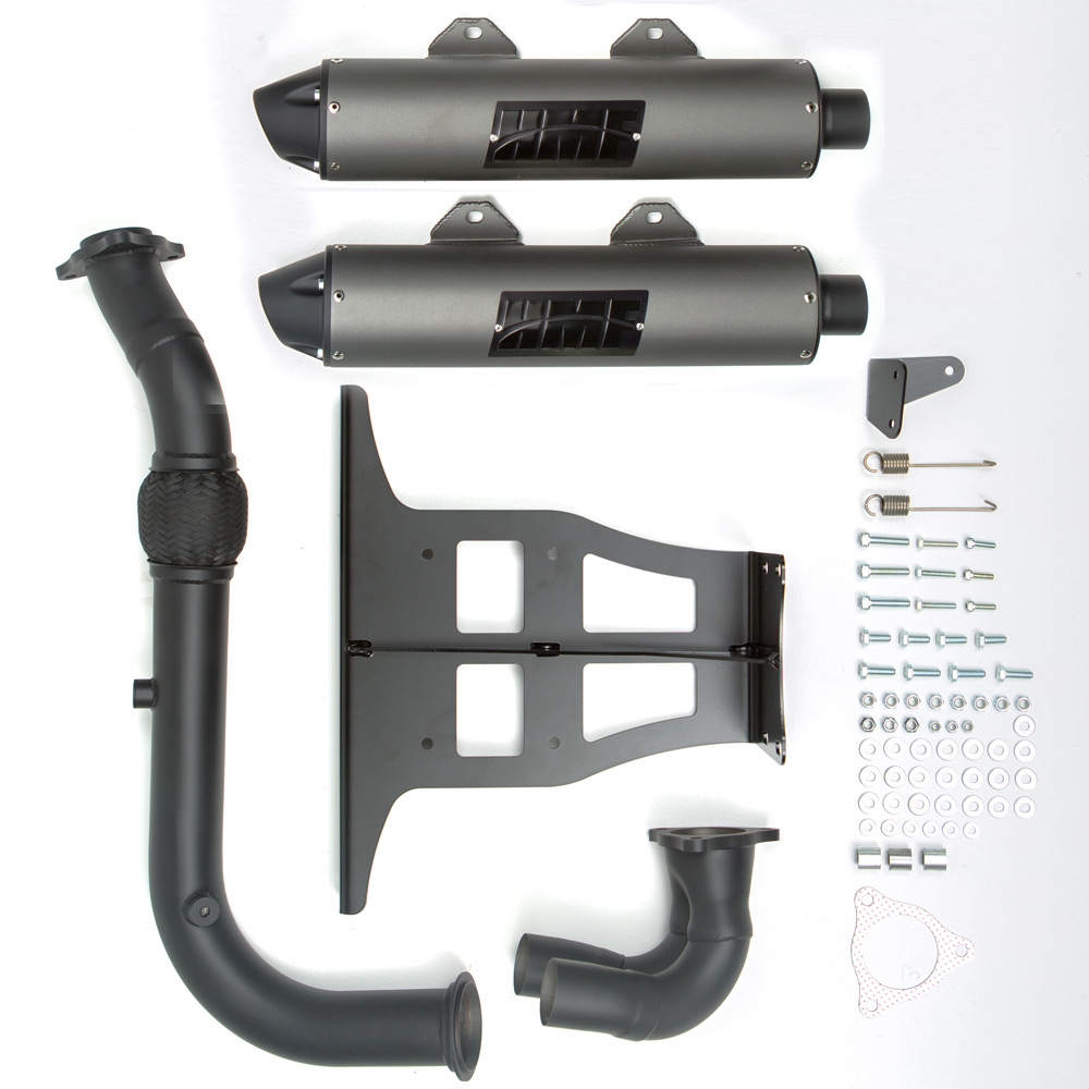 Performance Dual Turbo Back Blackout Exhaust & Blackout End Cap