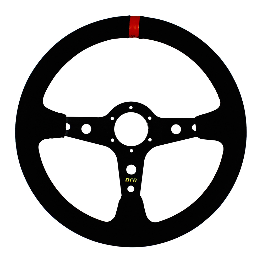 Shallow Suede Steering Wheel