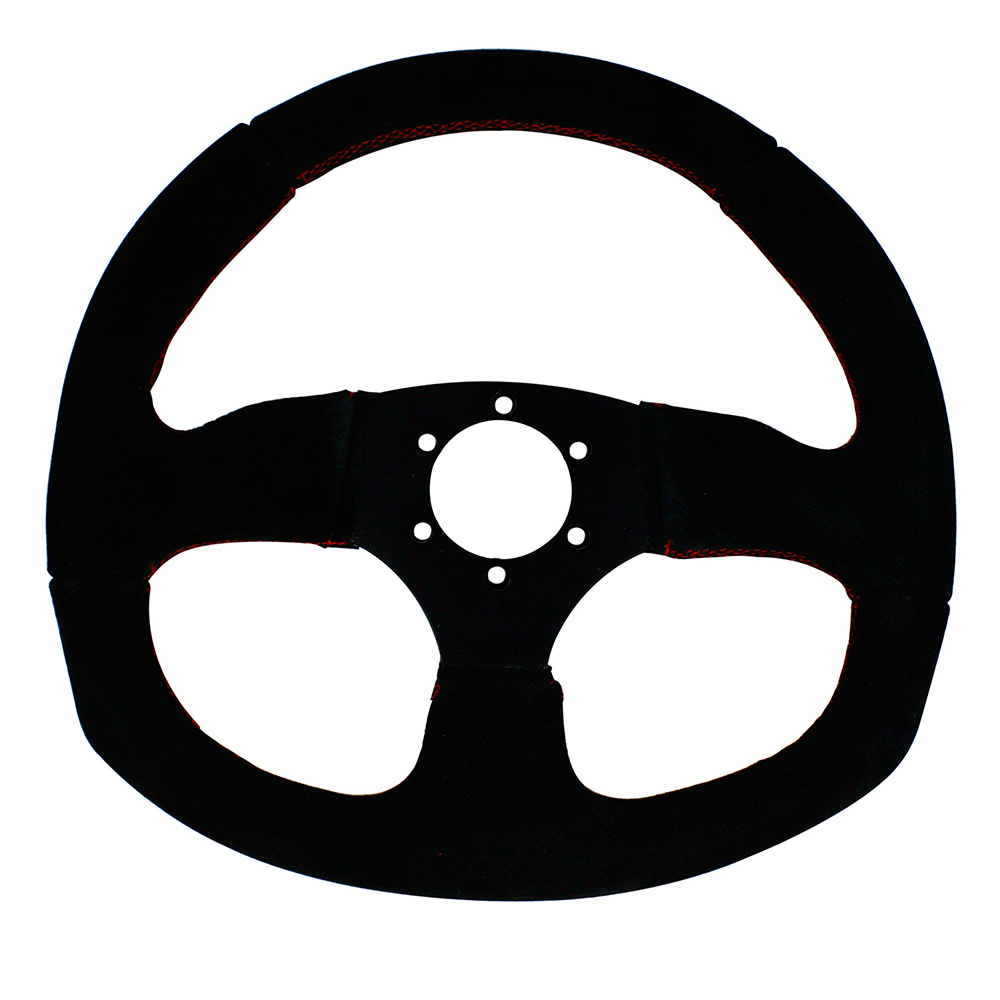 D-Shaped Suede Steering Wheel