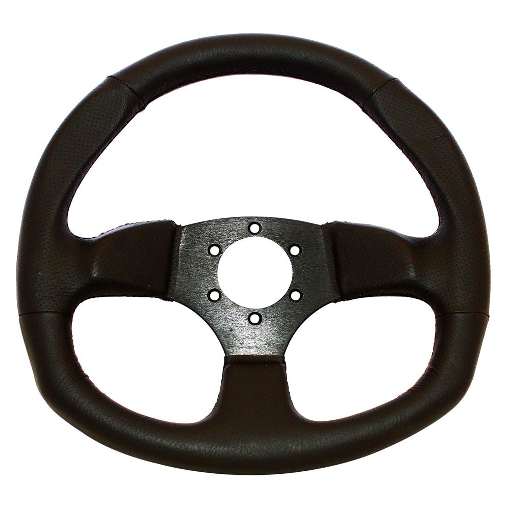 D-Shaped Vinyl Steering Wheel