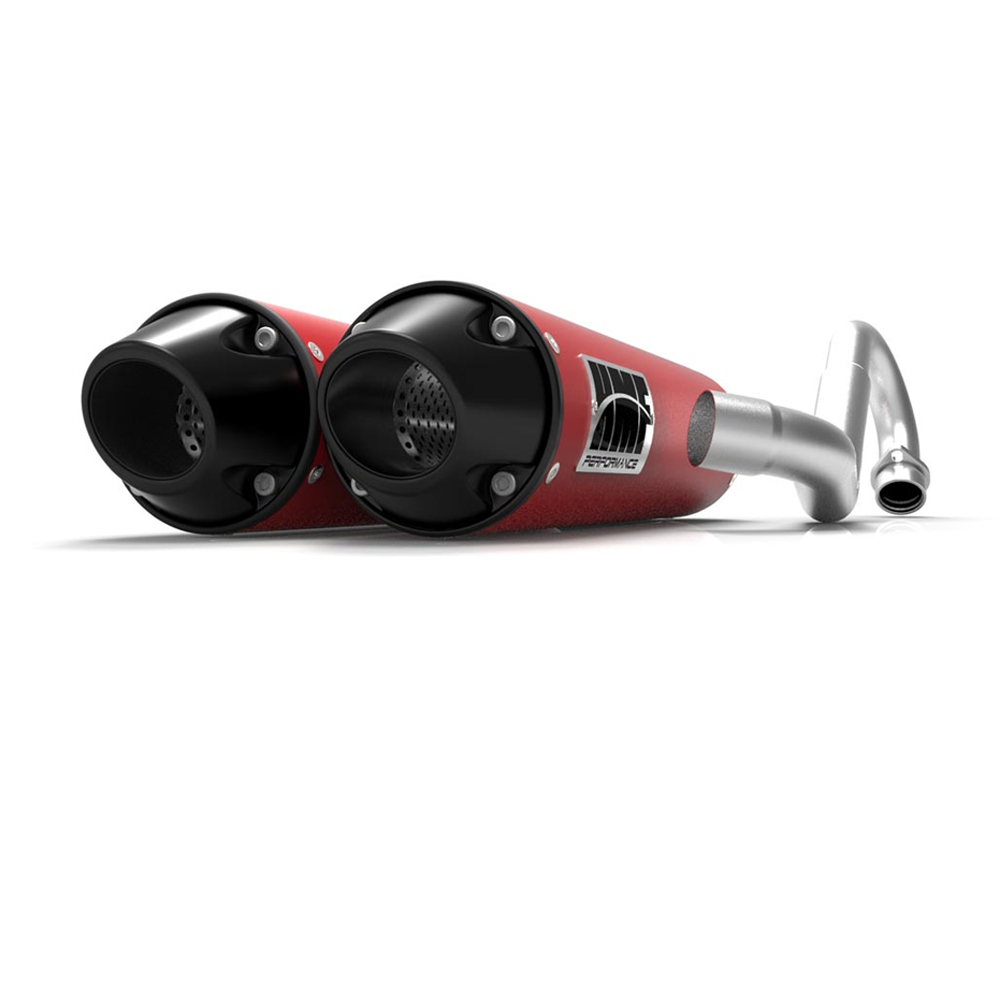 Performance Dual Full Red & Black End Cap