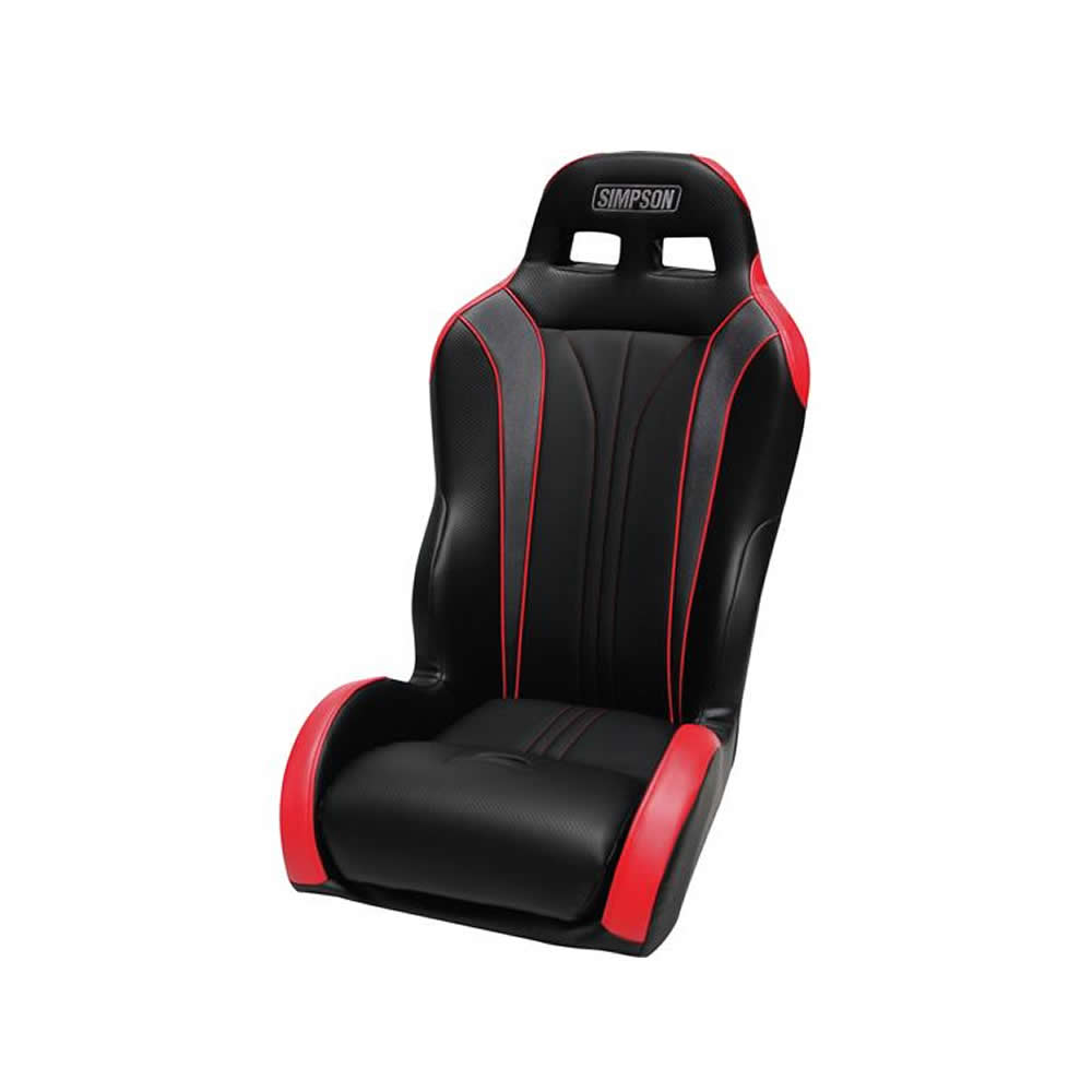 Black & Red Rear Containment Seat