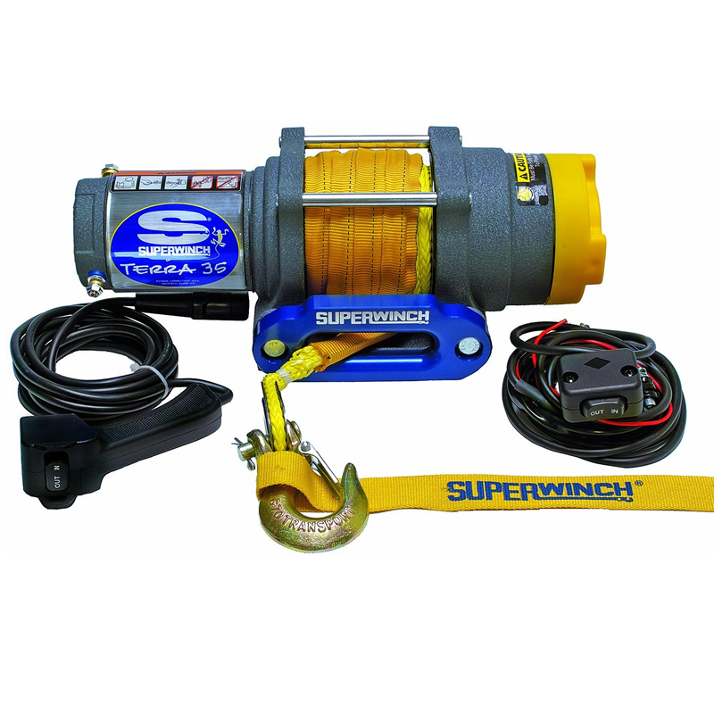 2500 LB Capacity Winch with 50' Synthetic Rope