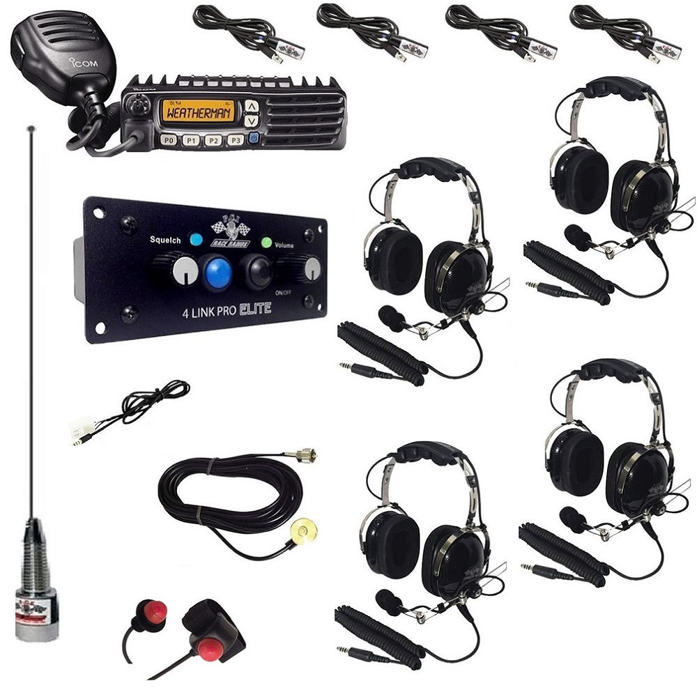 2-Way Radio Intercom Kit with Bluetooth & DSP for 4 Seats