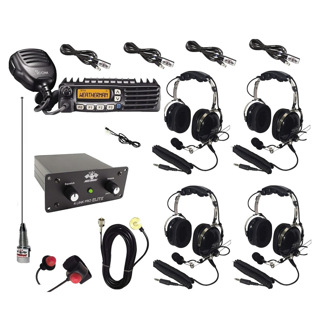 2-Way Radio Intercom Kit for 4 Seats