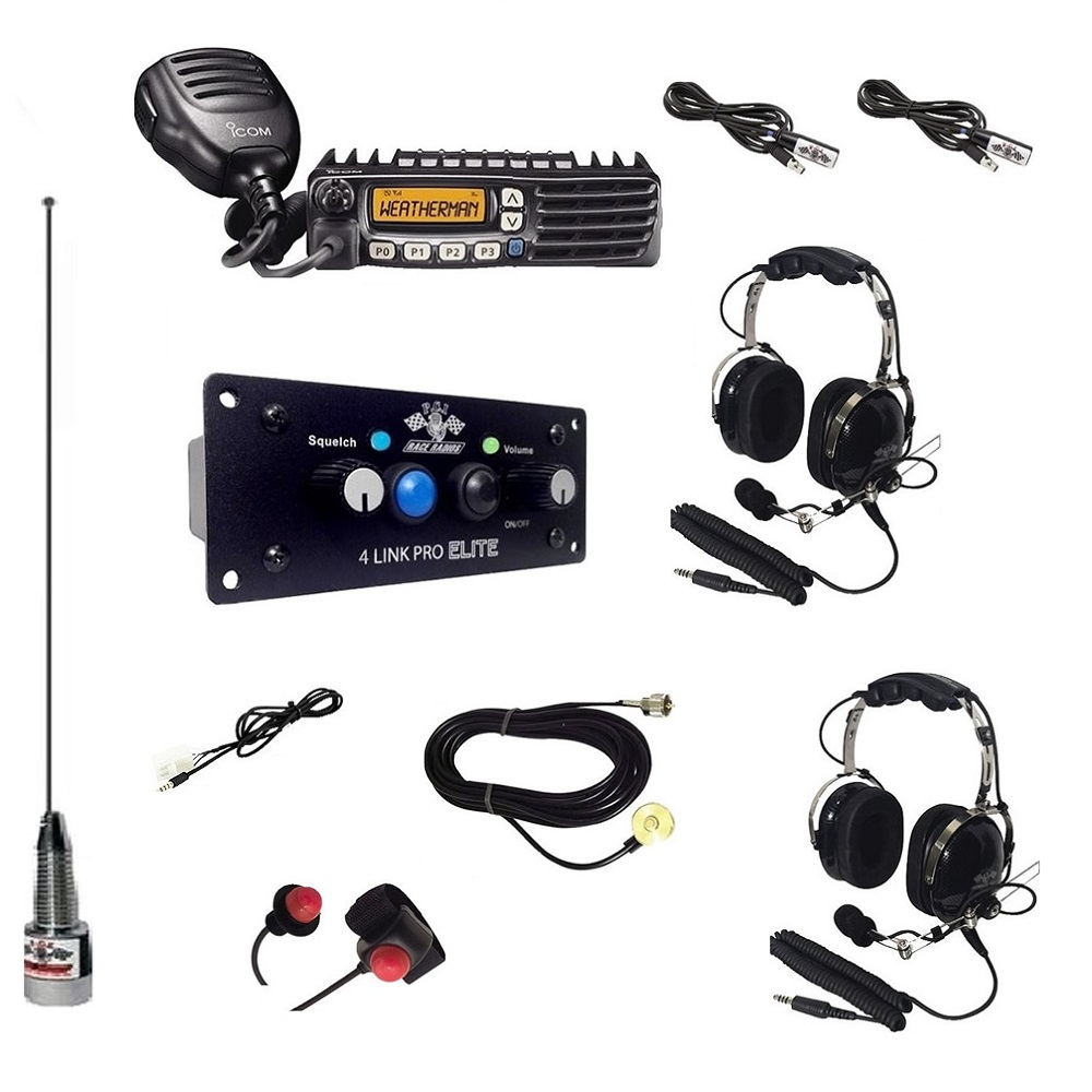 2-Way Radio Intercom Kit with Headsets, Bluetooth & DSP for 2 Seats