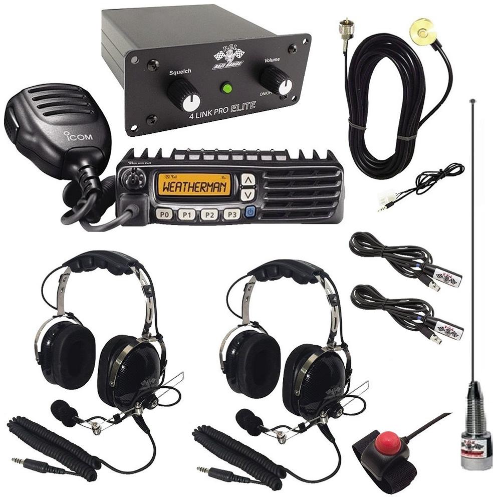 2-Way Radio Intercom Kit for 2 Seats